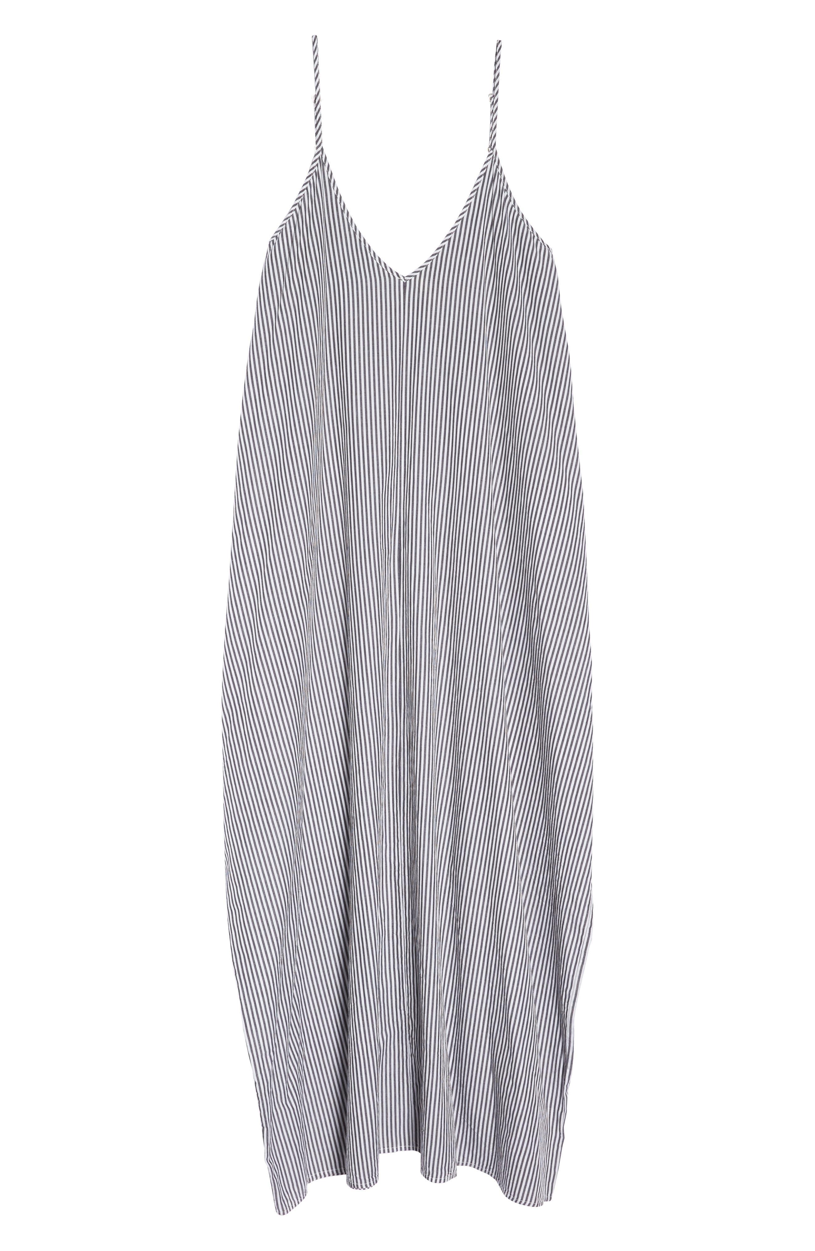 Cover-Up Maxi Dress,                             Alternate thumbnail 6, color,                             BLACK/ WHITE