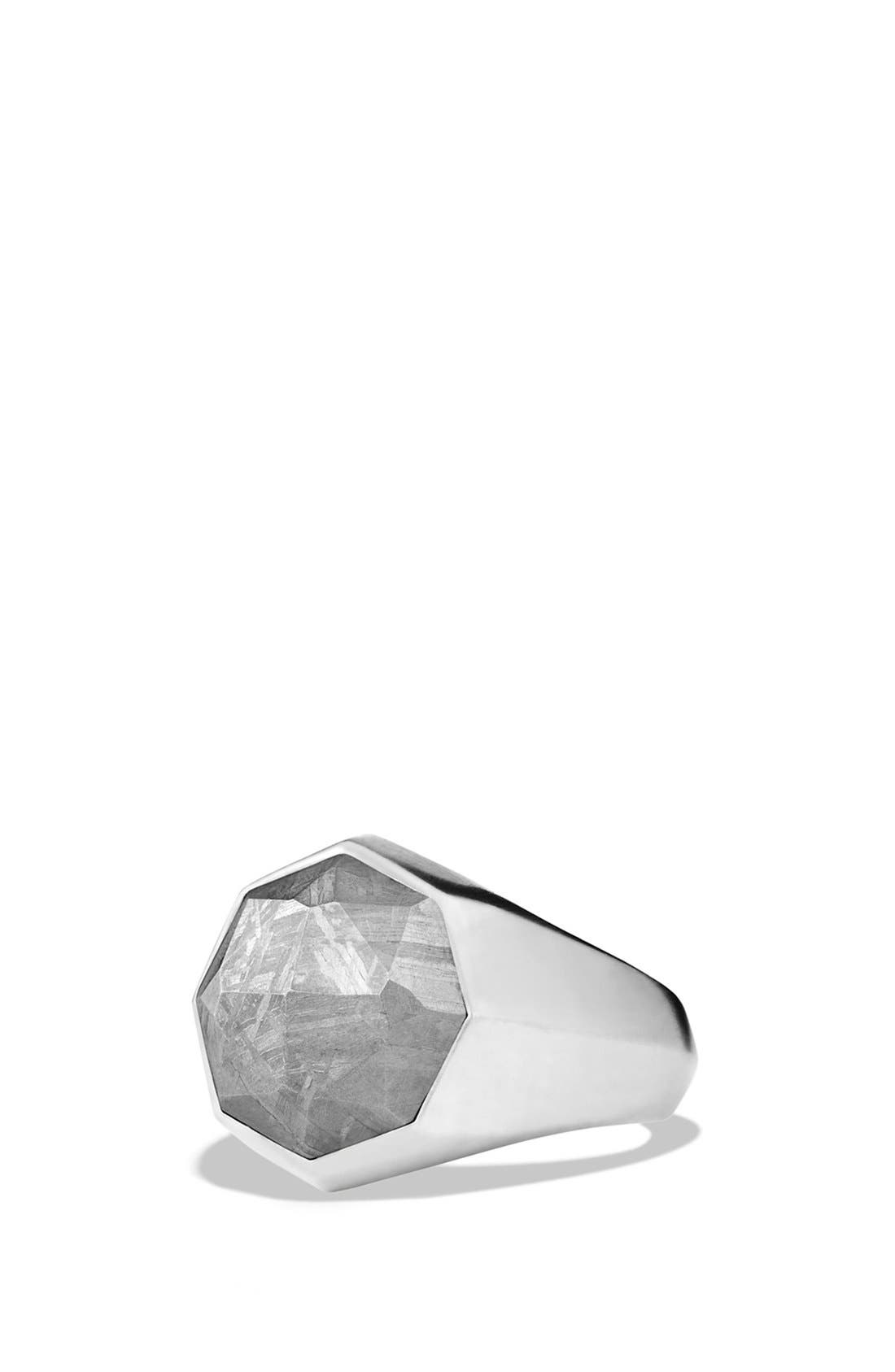 'Meteorite' Signet Ring,                             Main thumbnail 1, color,                             METEORITE