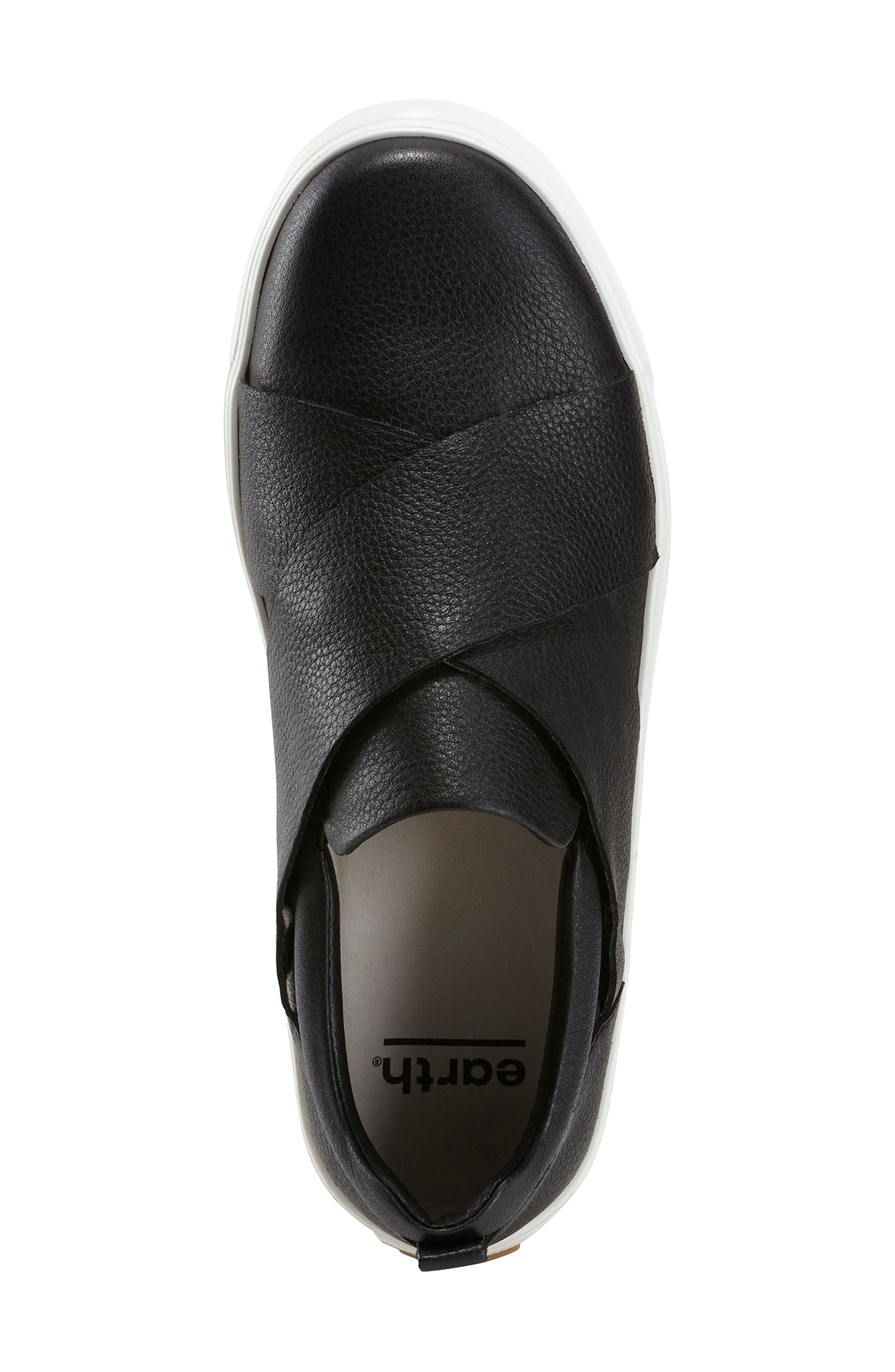 EARTH<SUP>®</SUP>,                             Clary Sneaker,                             Alternate thumbnail 5, color,                             BLACK LEATHER