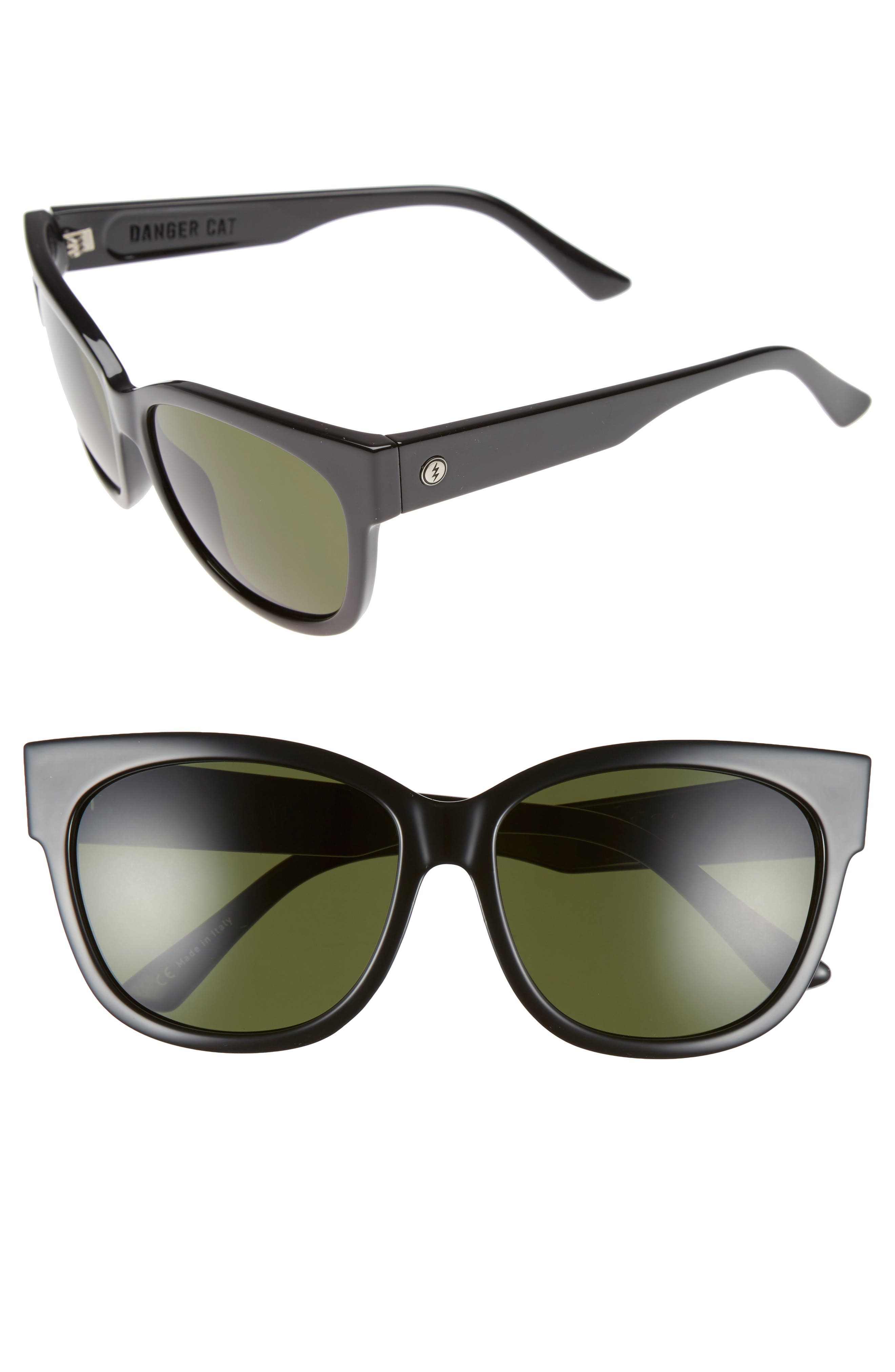 'Danger Cat' 58mm Retro Sunglasses,                             Alternate thumbnail 6, color,
