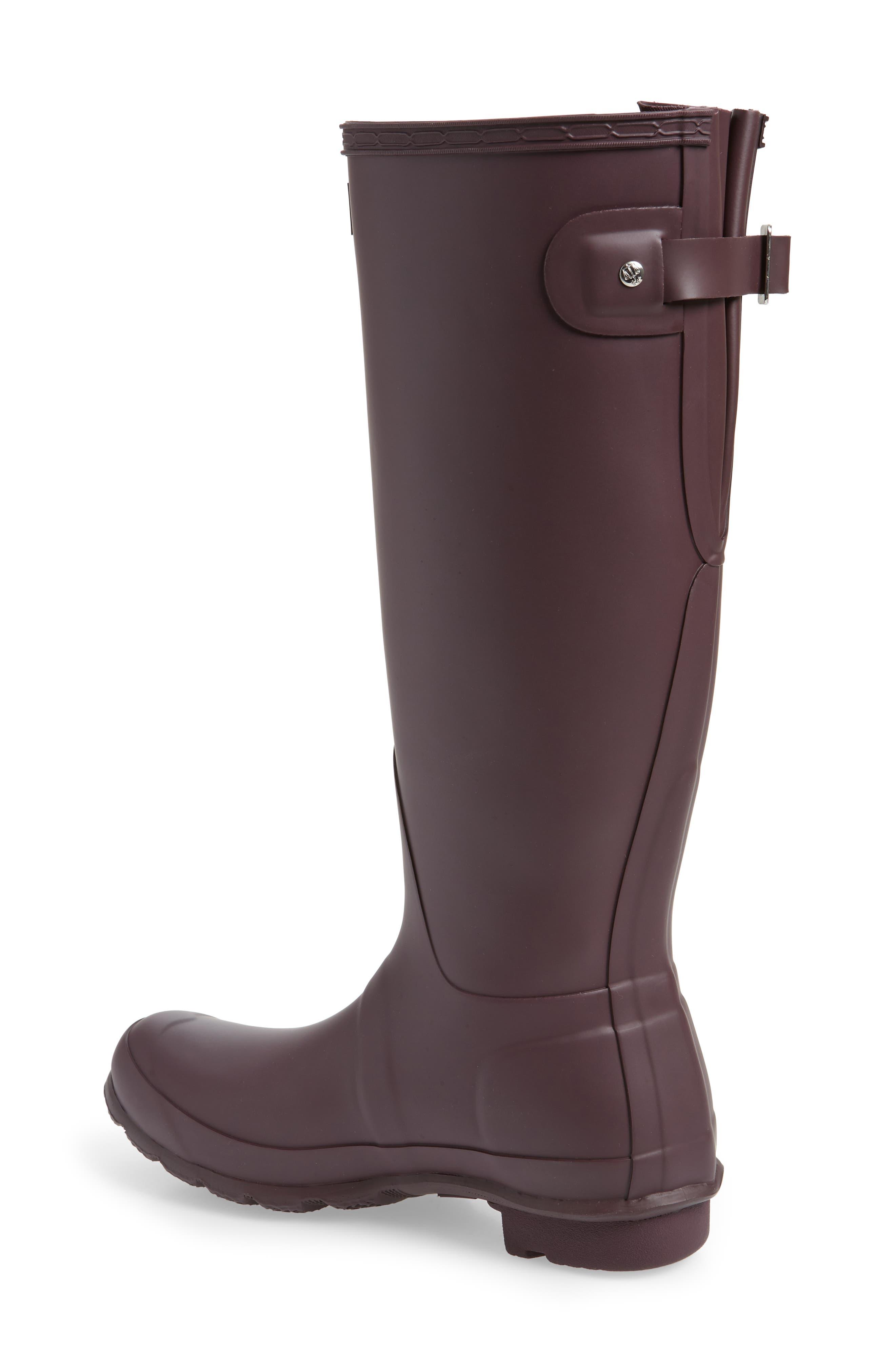Original Tall Adjustable Back Waterproof Rain Boot,                             Alternate thumbnail 2, color,                             BLACK GRAPE