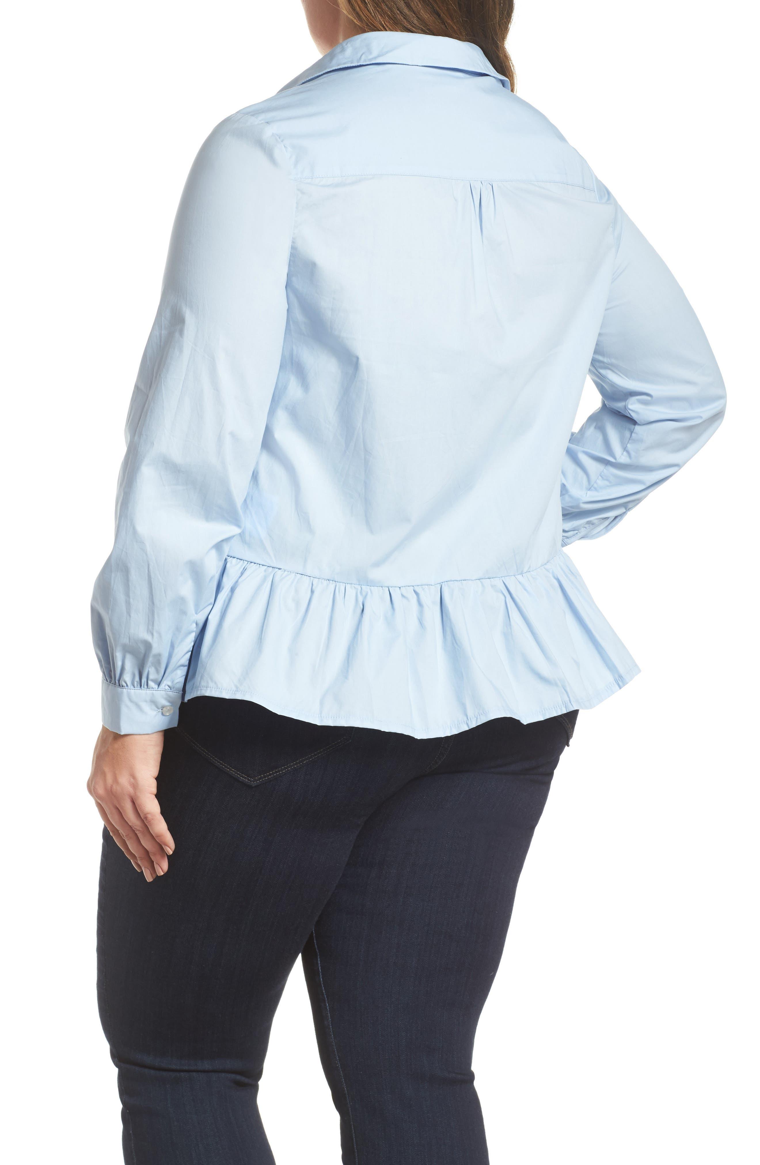 Peplum Hem Shirt,                             Alternate thumbnail 2, color,                             400