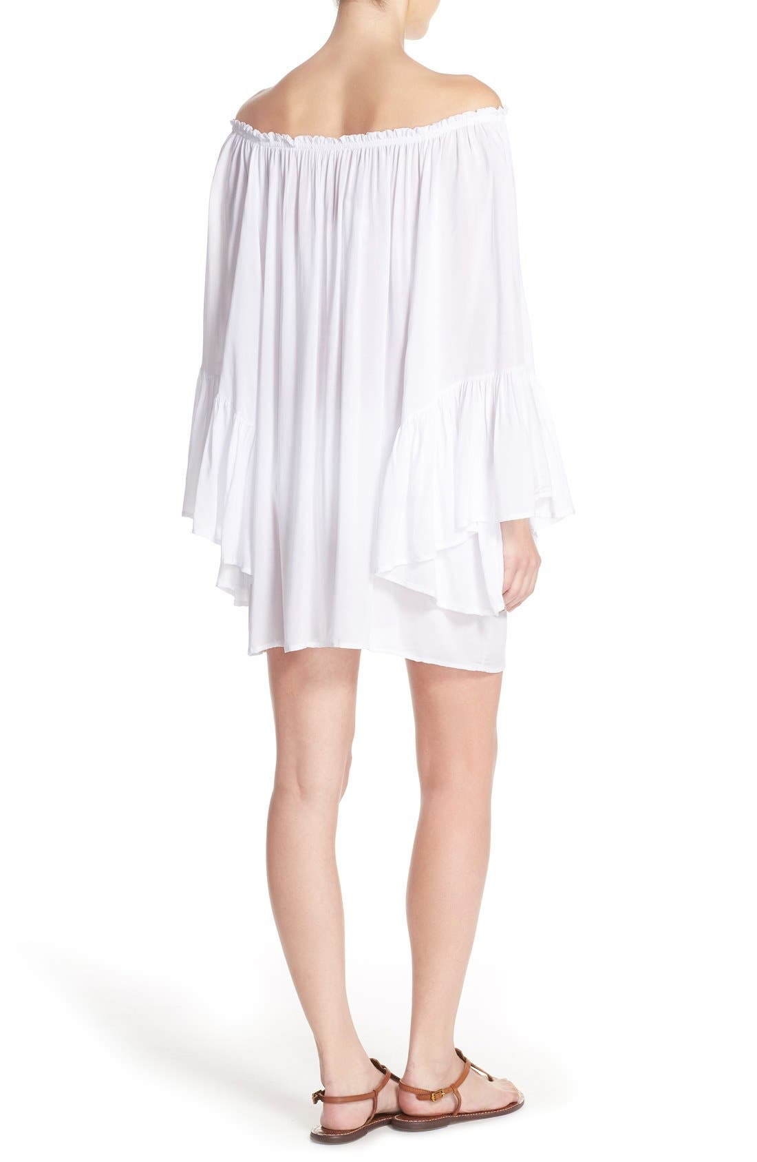 Bell Sleeve Cover-Up Tunic Dress,                             Alternate thumbnail 11, color,