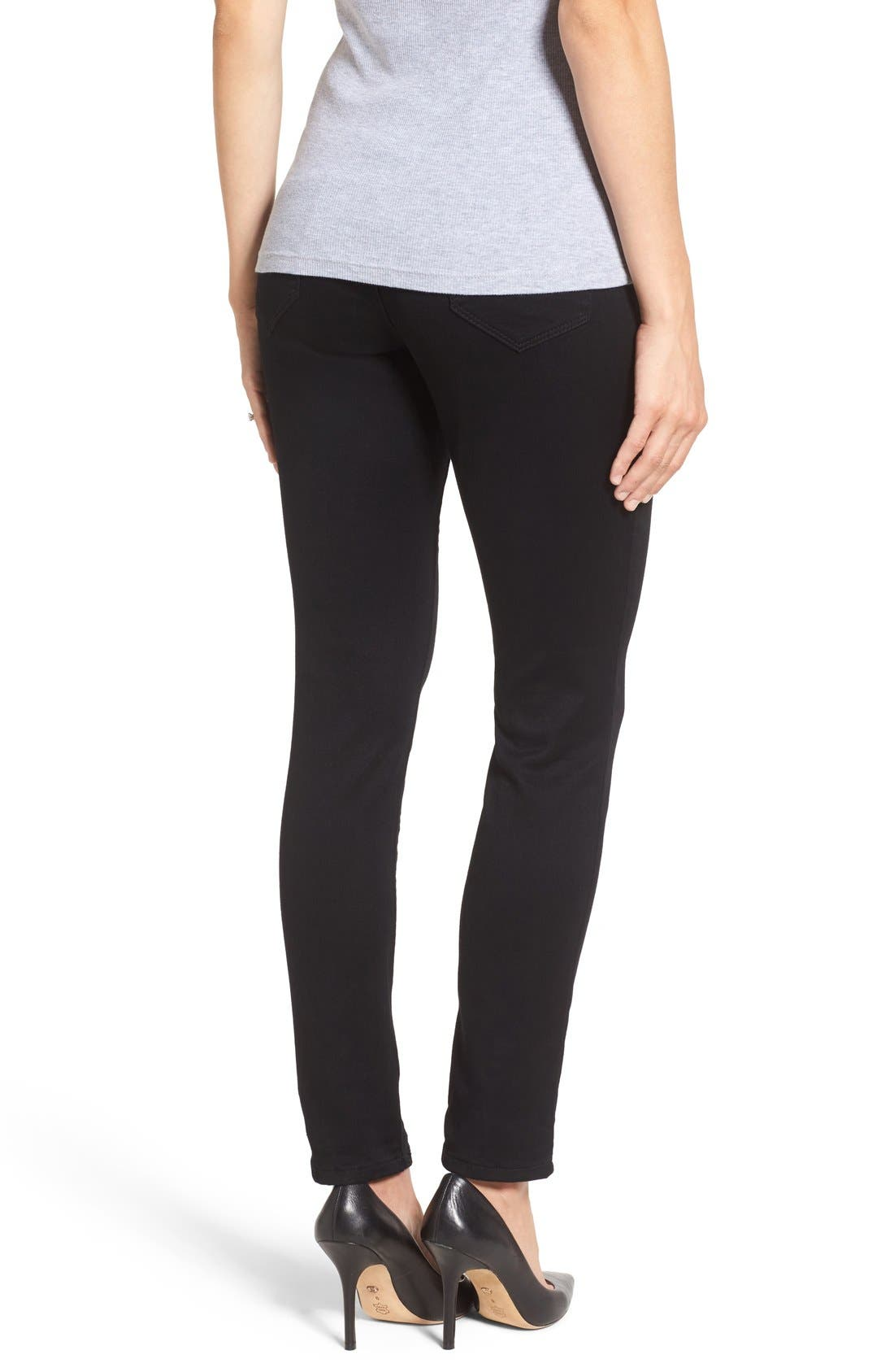 'Ankle Biter' Over the Bump Rolled Cuff Maternity Skinny Jeans,                             Alternate thumbnail 5, color,