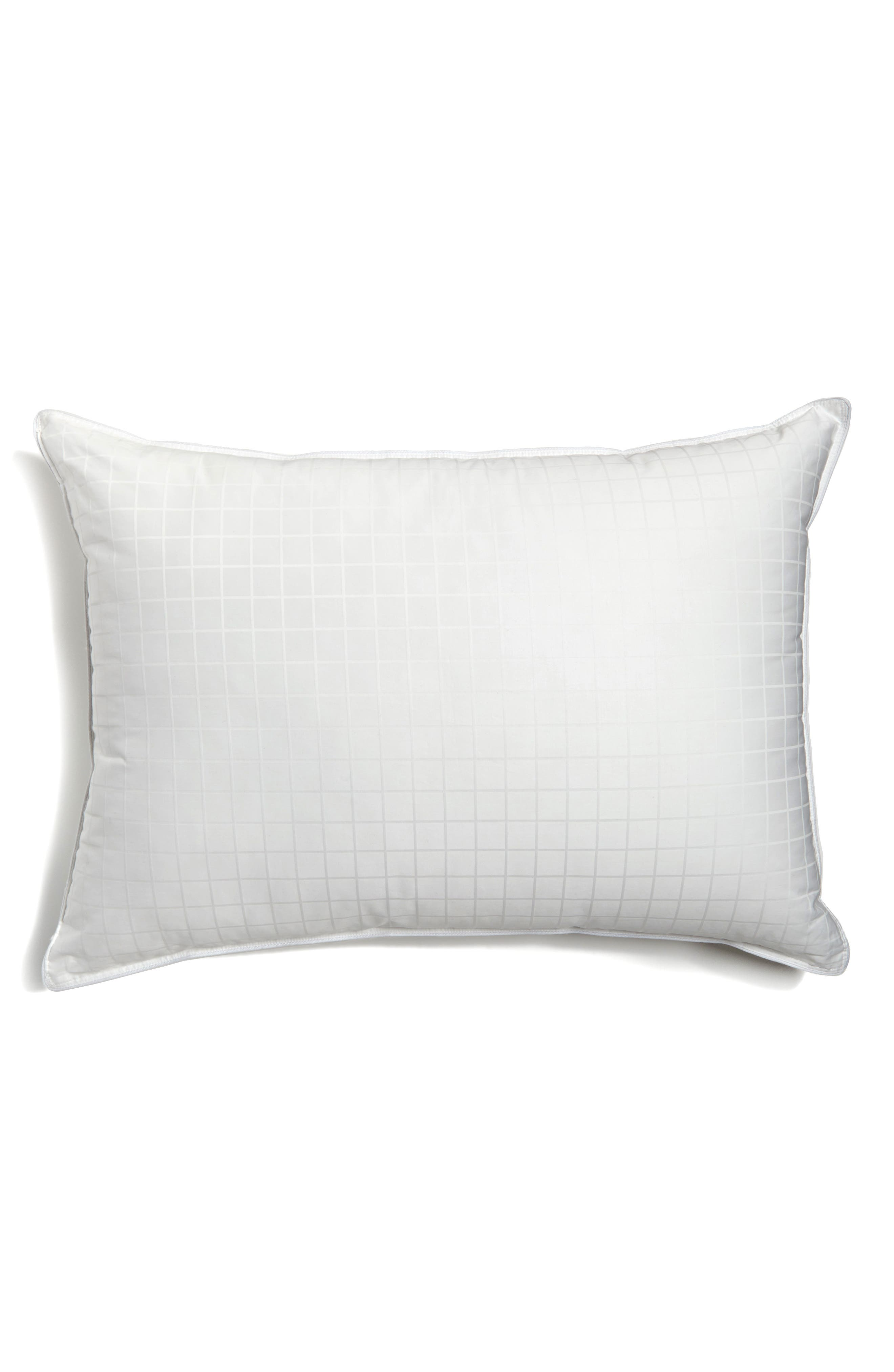 Luxe Down & Feather Pillow,                         Main,                         color, WHITE