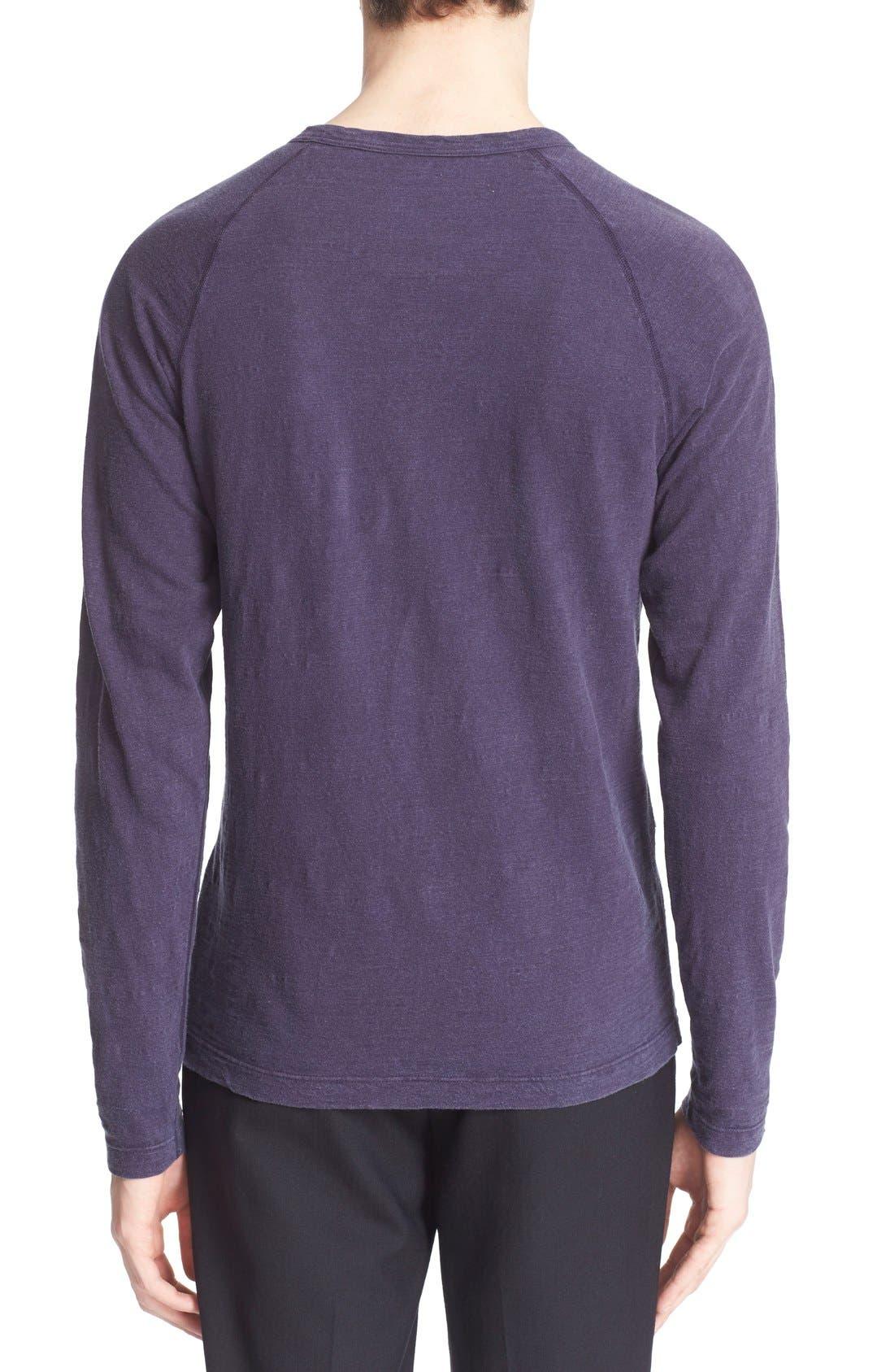 Long Sleeve Cotton Jersey Henley,                             Alternate thumbnail 14, color,