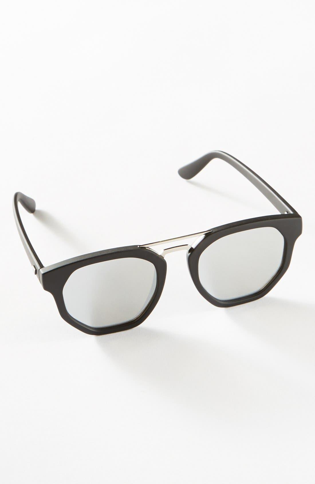 'Thunderdome' 52mm Polarized Sunglasses,                             Alternate thumbnail 4, color,                             001