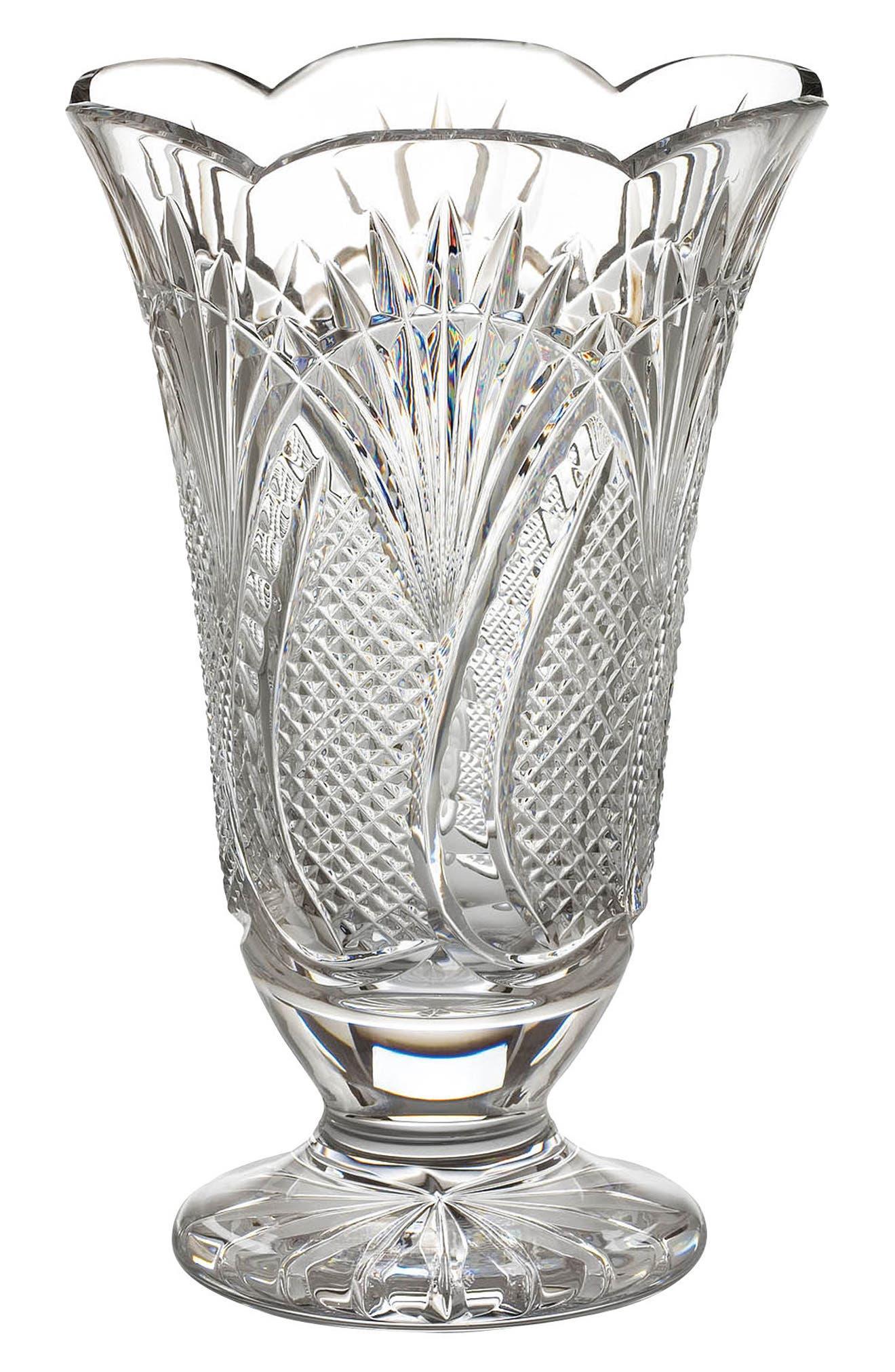 Seahorse Lead Crystal Vase,                             Main thumbnail 1, color,                             100