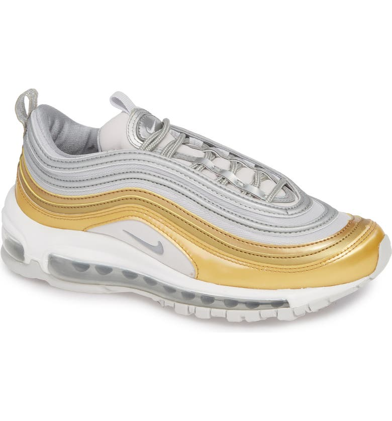 meet ba3fb 3b537 Nike Air Max 97 Special Edition Sneakers In Grey  Metallic Silver- Gold