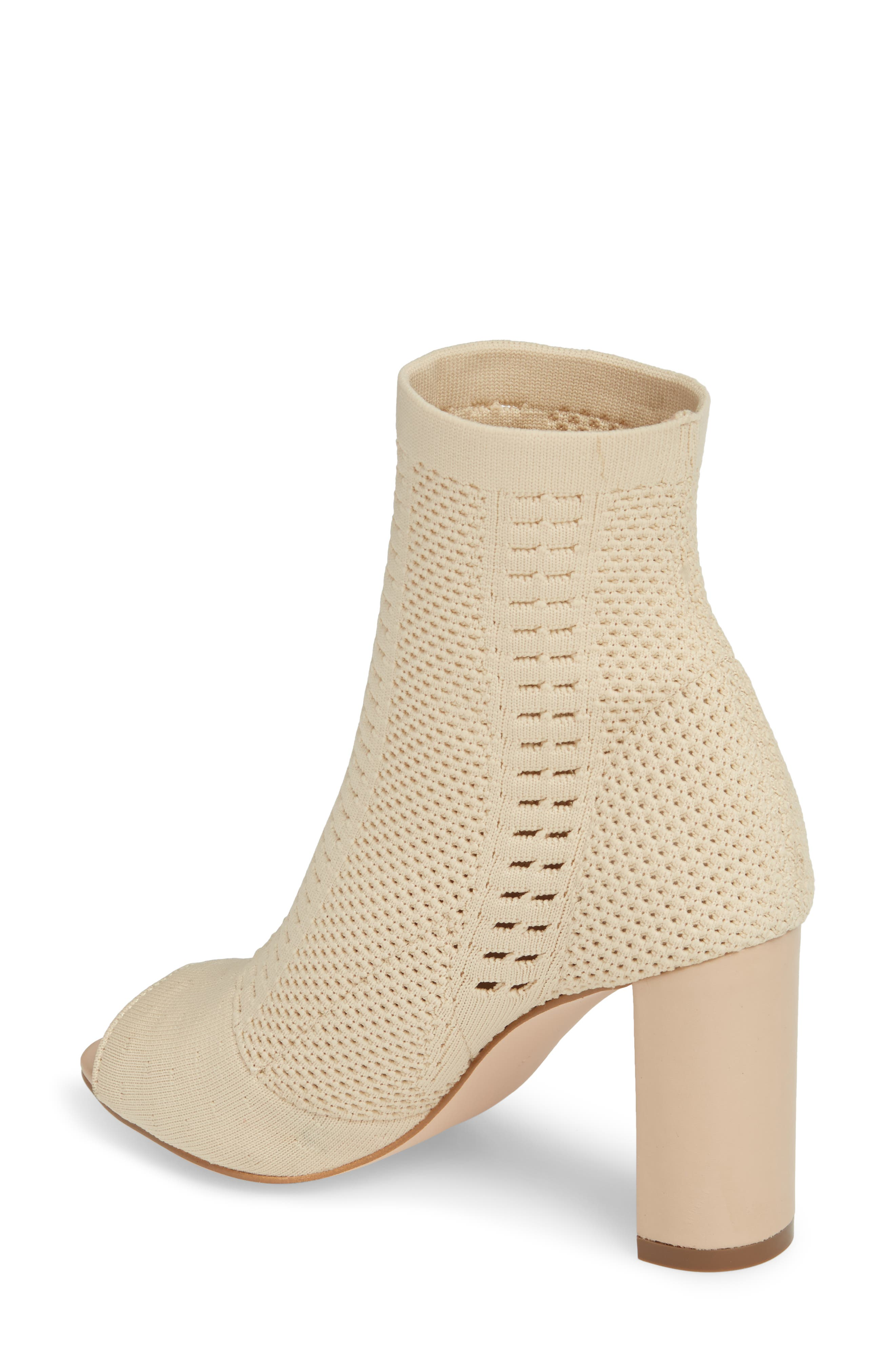 Can't Stop Open Toe Sock Bootie,                             Alternate thumbnail 2, color,                             NATURAL STRETCH