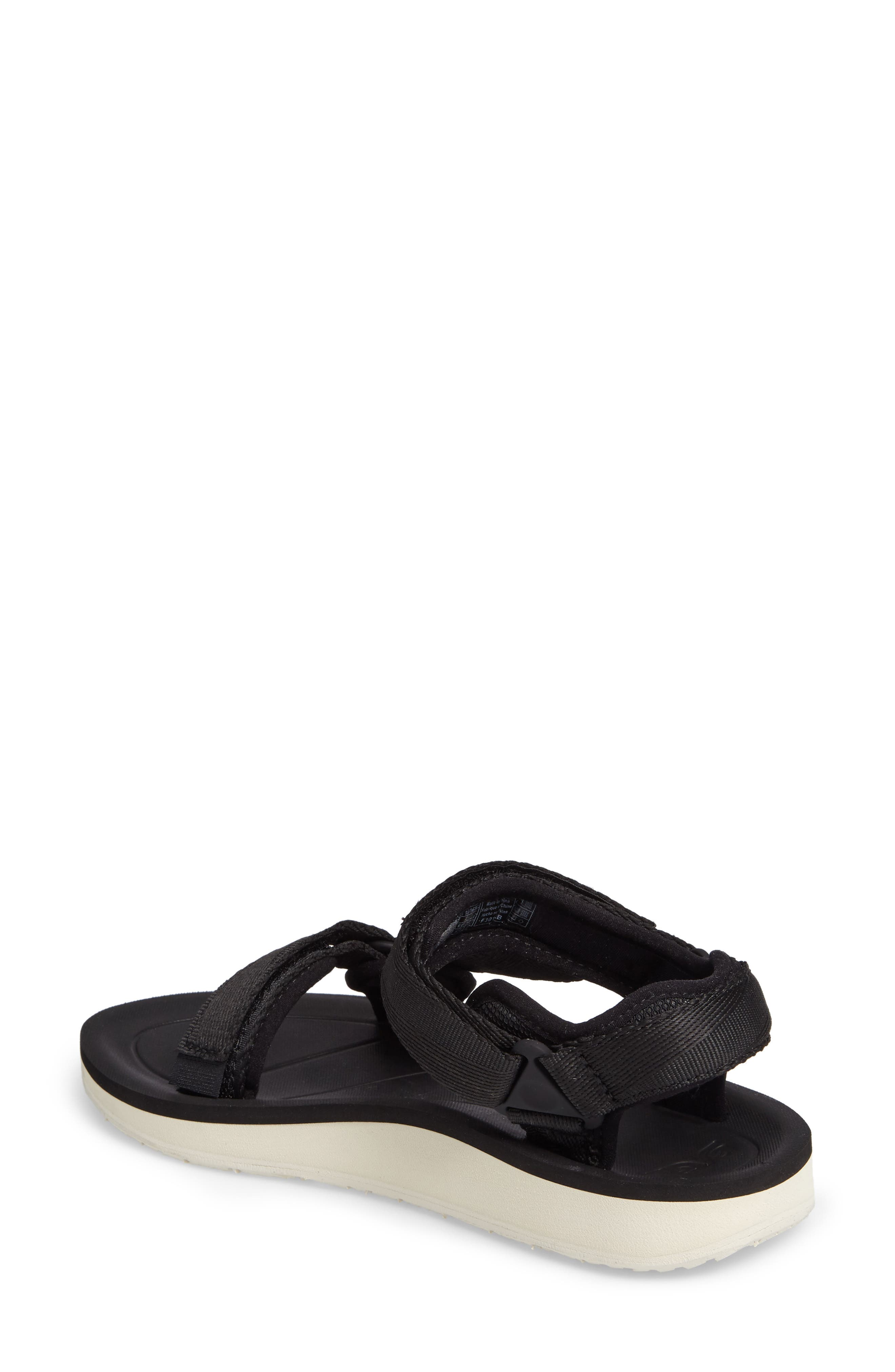 Original Universal Premier Sandal,                             Alternate thumbnail 2, color,                             BLACK FABRIC