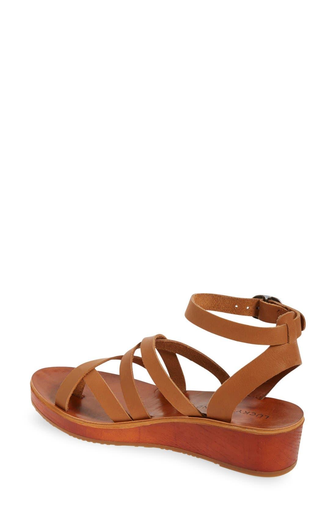 'Honeyy' Platform Sandal,                             Alternate thumbnail 8, color,