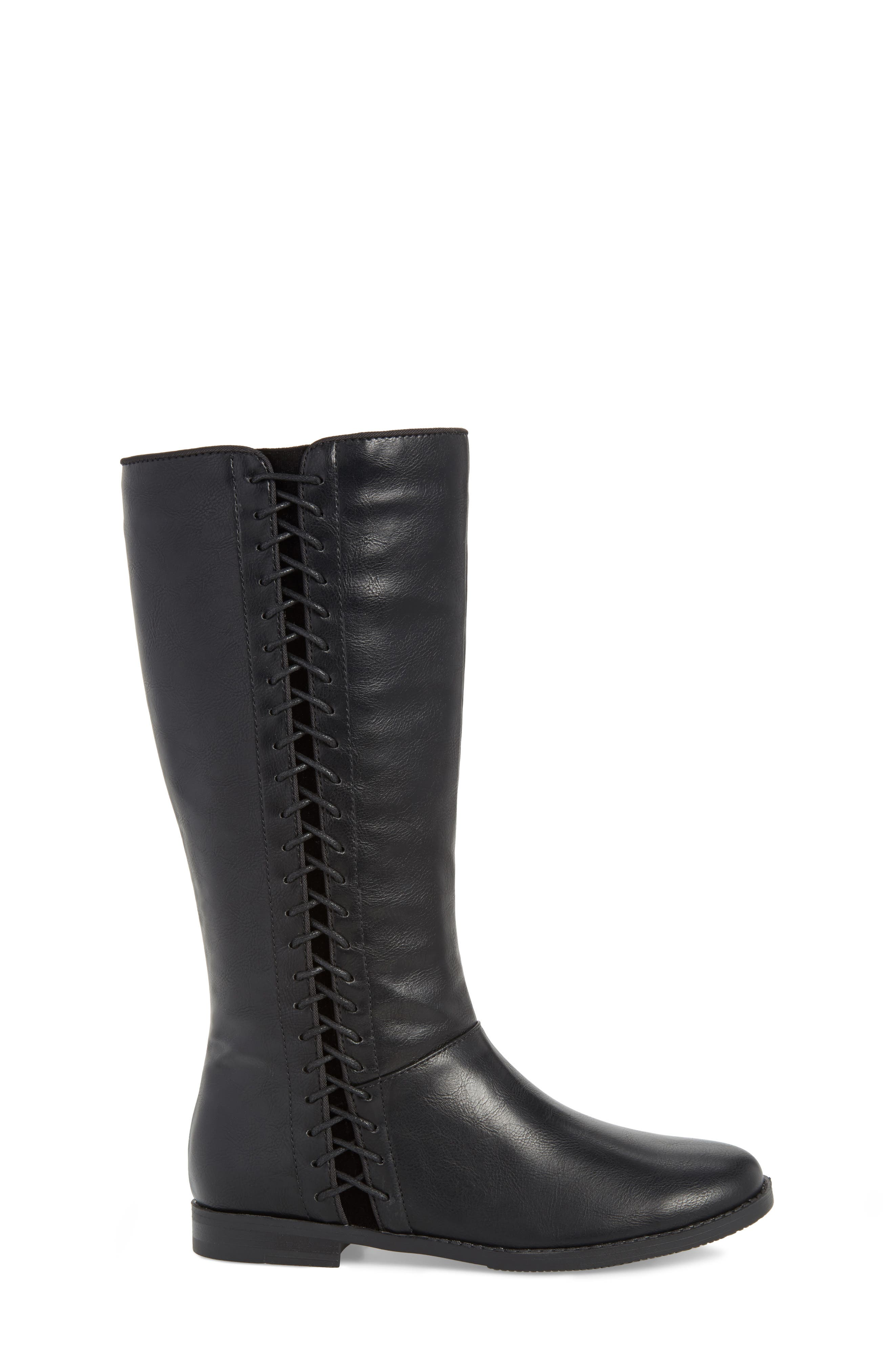 Kennedy Laced Tall Boot,                             Alternate thumbnail 3, color,