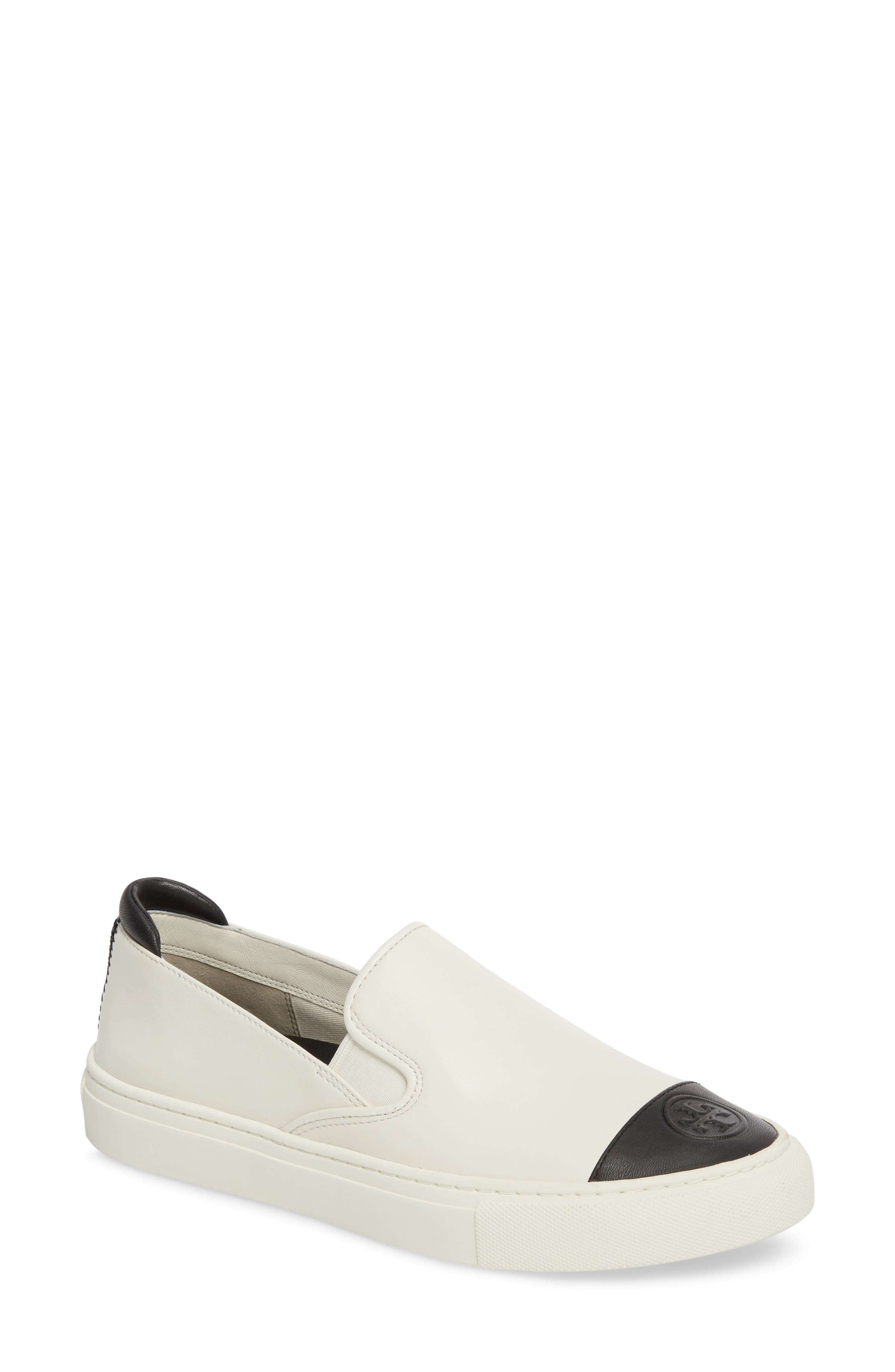 Colorblock Slip-On Sneaker,                             Main thumbnail 1, color,                             PERFECT IVORY/ PERFECT BLACK