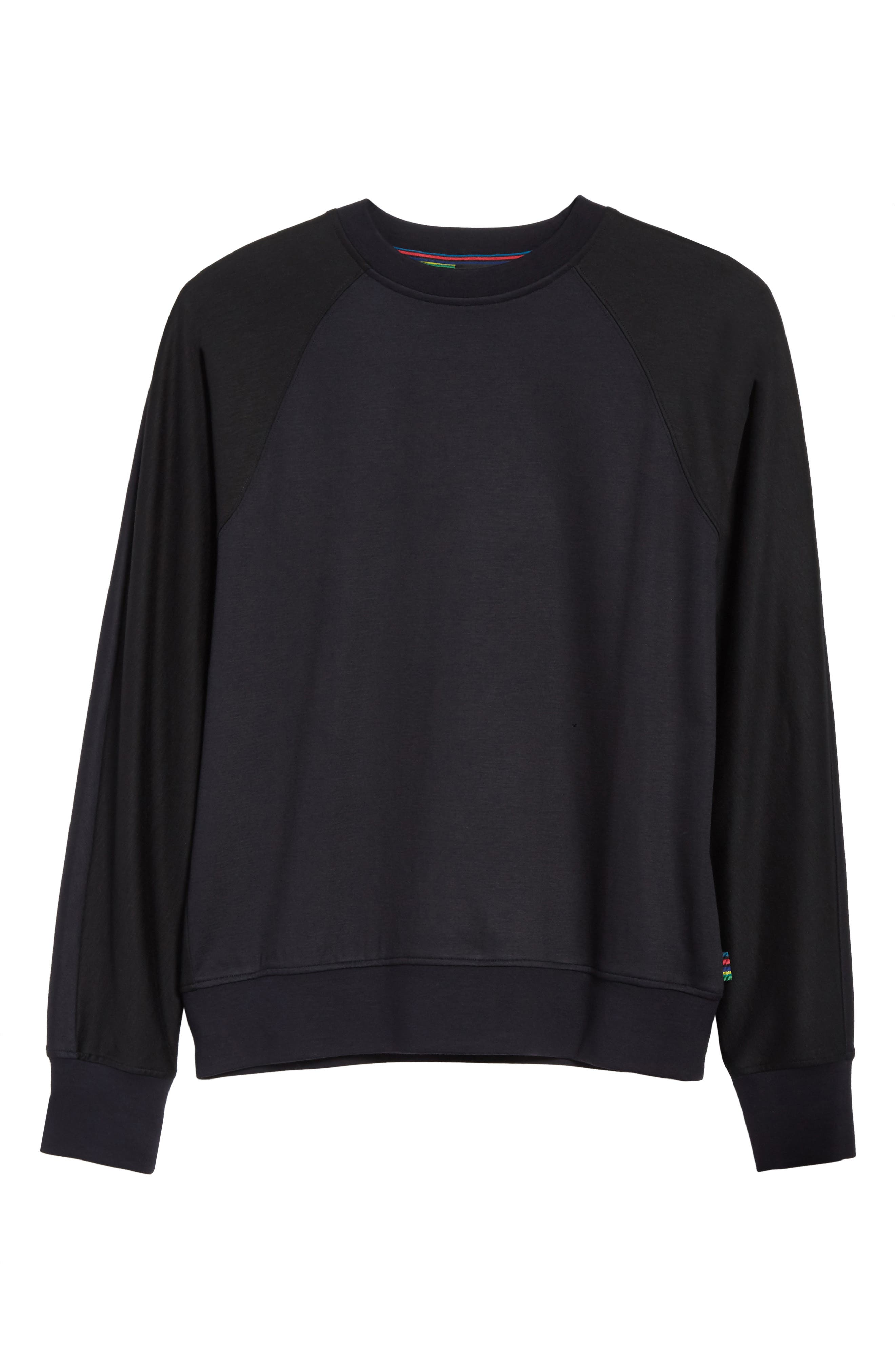 Crewneck Sweatshirt,                             Alternate thumbnail 6, color,                             001