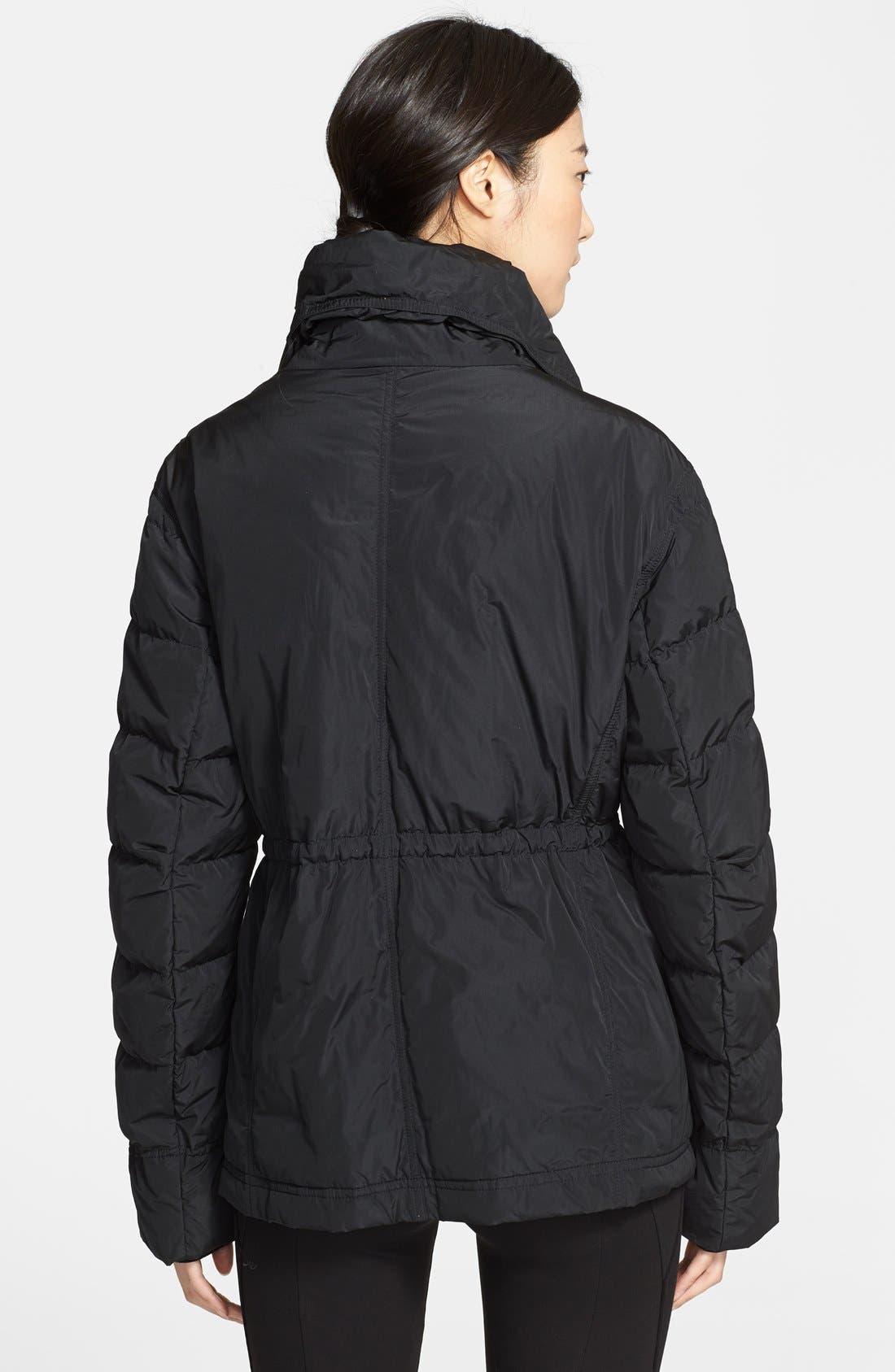 Donna Karan Collection Down Jacket with Detachable Satin Vest,                             Alternate thumbnail 4, color,                             001