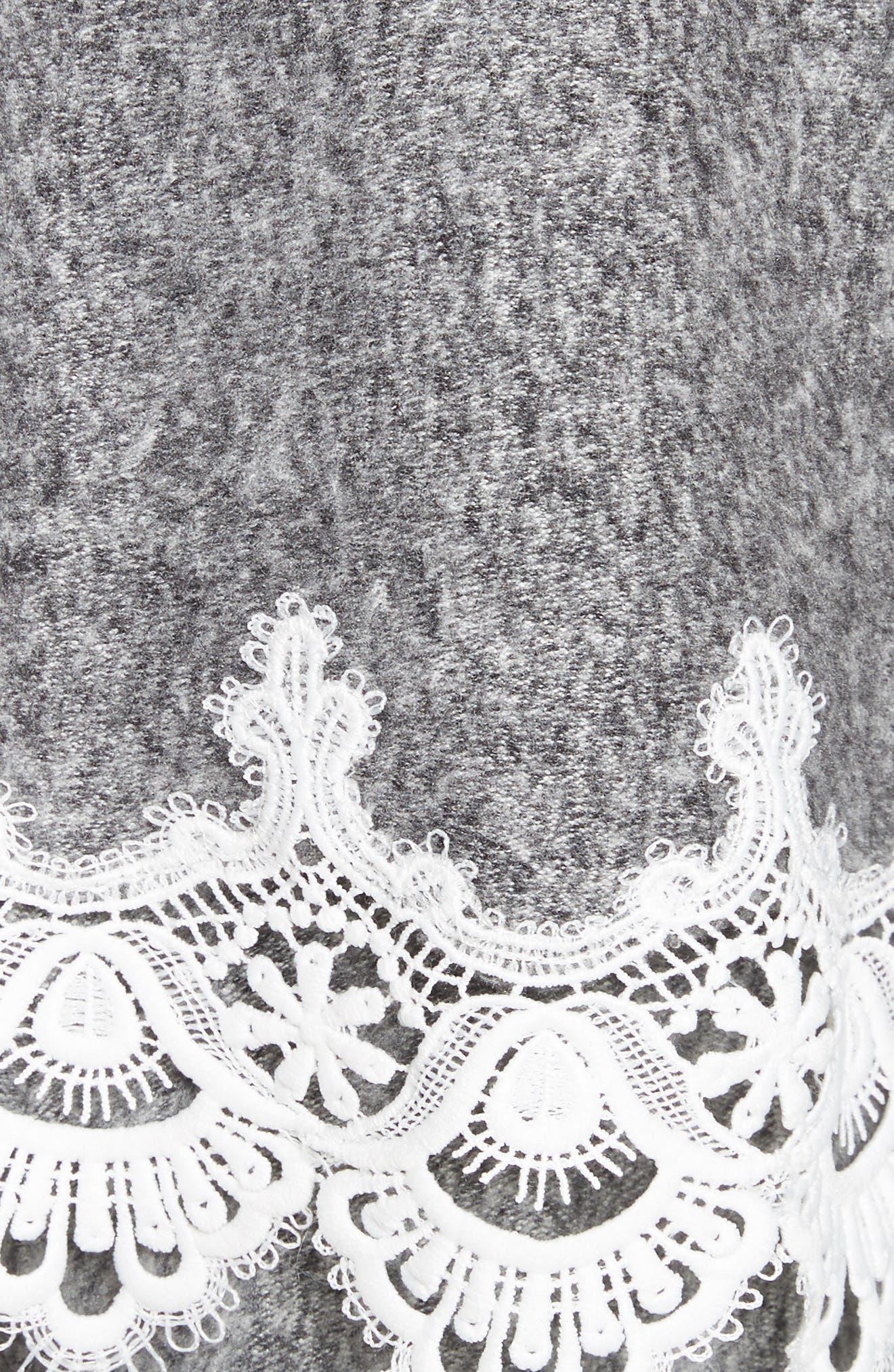 THE KOOPLES,                             Lace Hem Hoodie,                             Alternate thumbnail 5, color,                             020