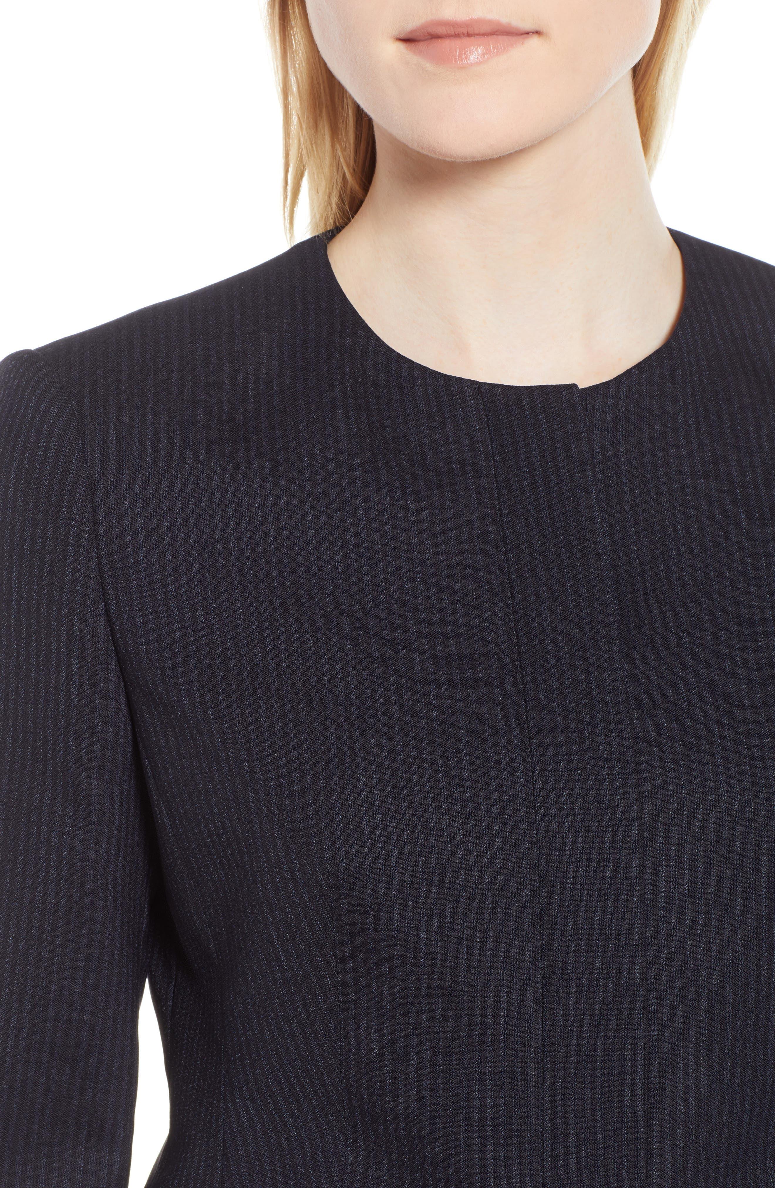 Jasyma Tonal Stripe Stretch Wool Suit Jacket,                             Alternate thumbnail 4, color,                             NAVY FANTASY