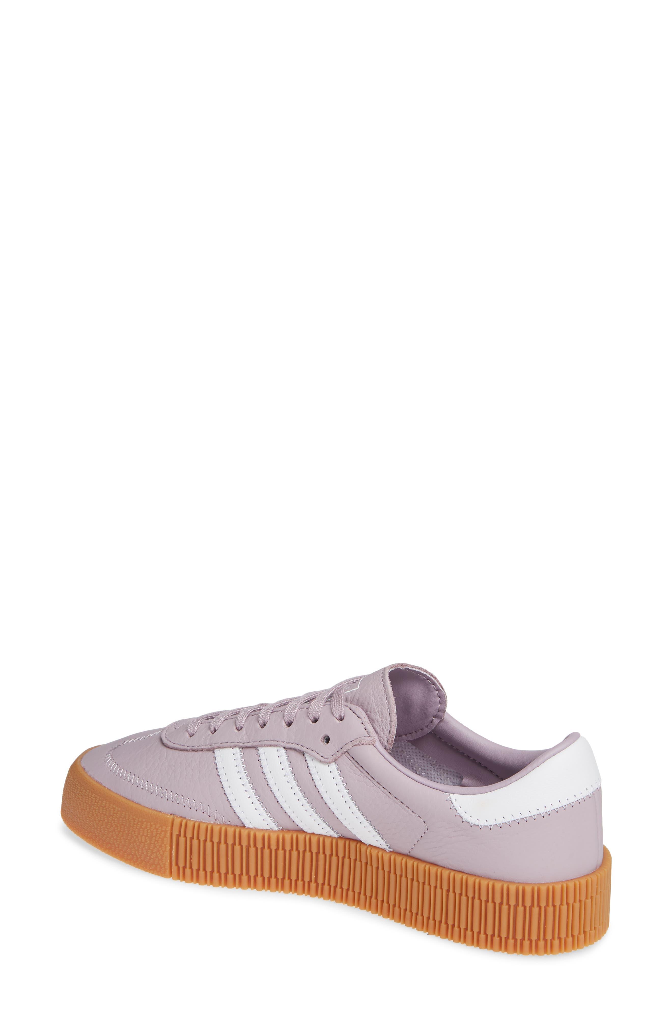 ADIDAS,                             Samba Rose Sneaker,                             Alternate thumbnail 2, color,                             SOFT VISION/ WHITE/ GUM