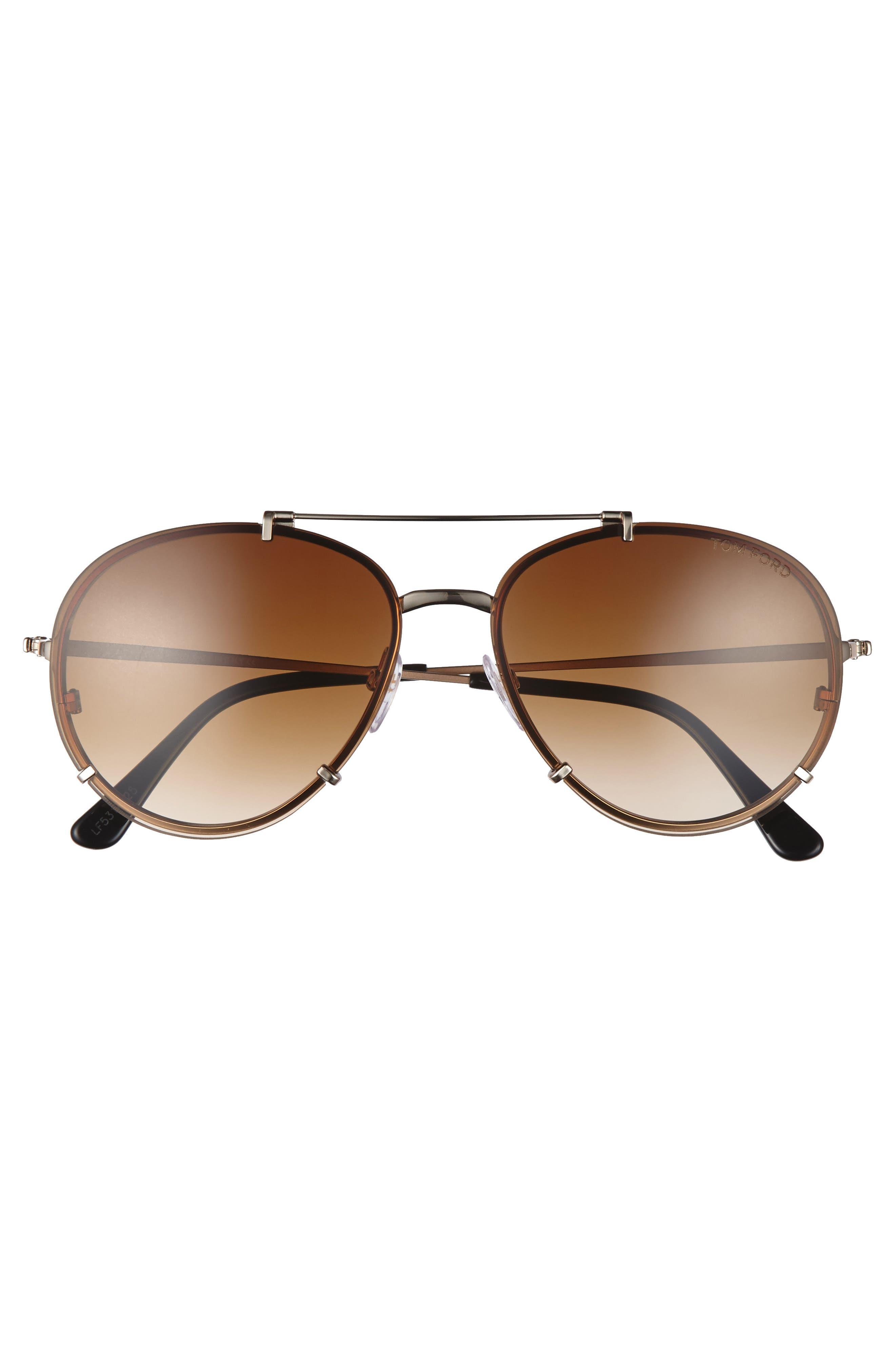 Dickon 59mm Aviator Sunglasses,                             Alternate thumbnail 2, color,                             710