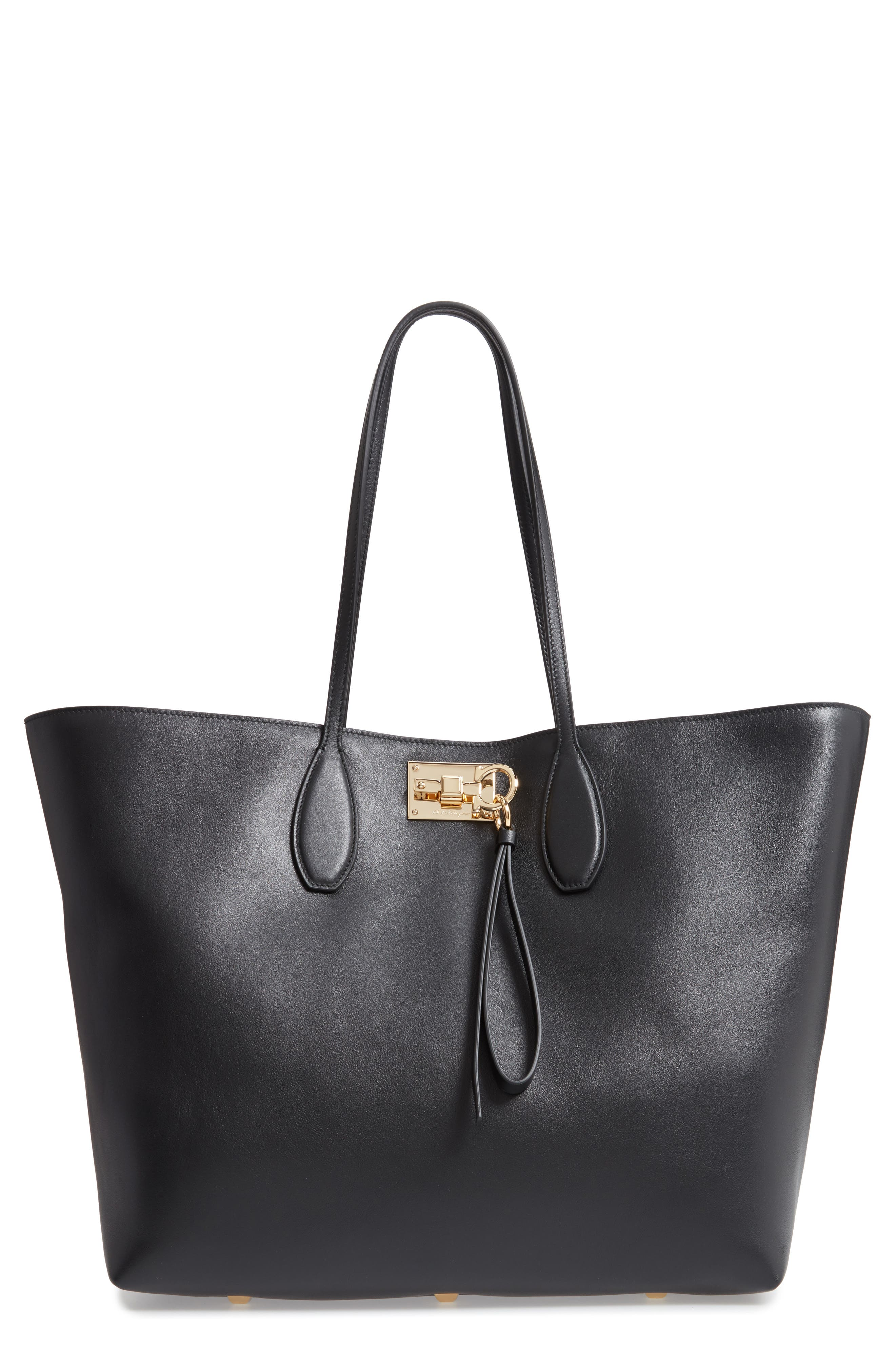 The Studio Leather Tote,                             Main thumbnail 1, color,