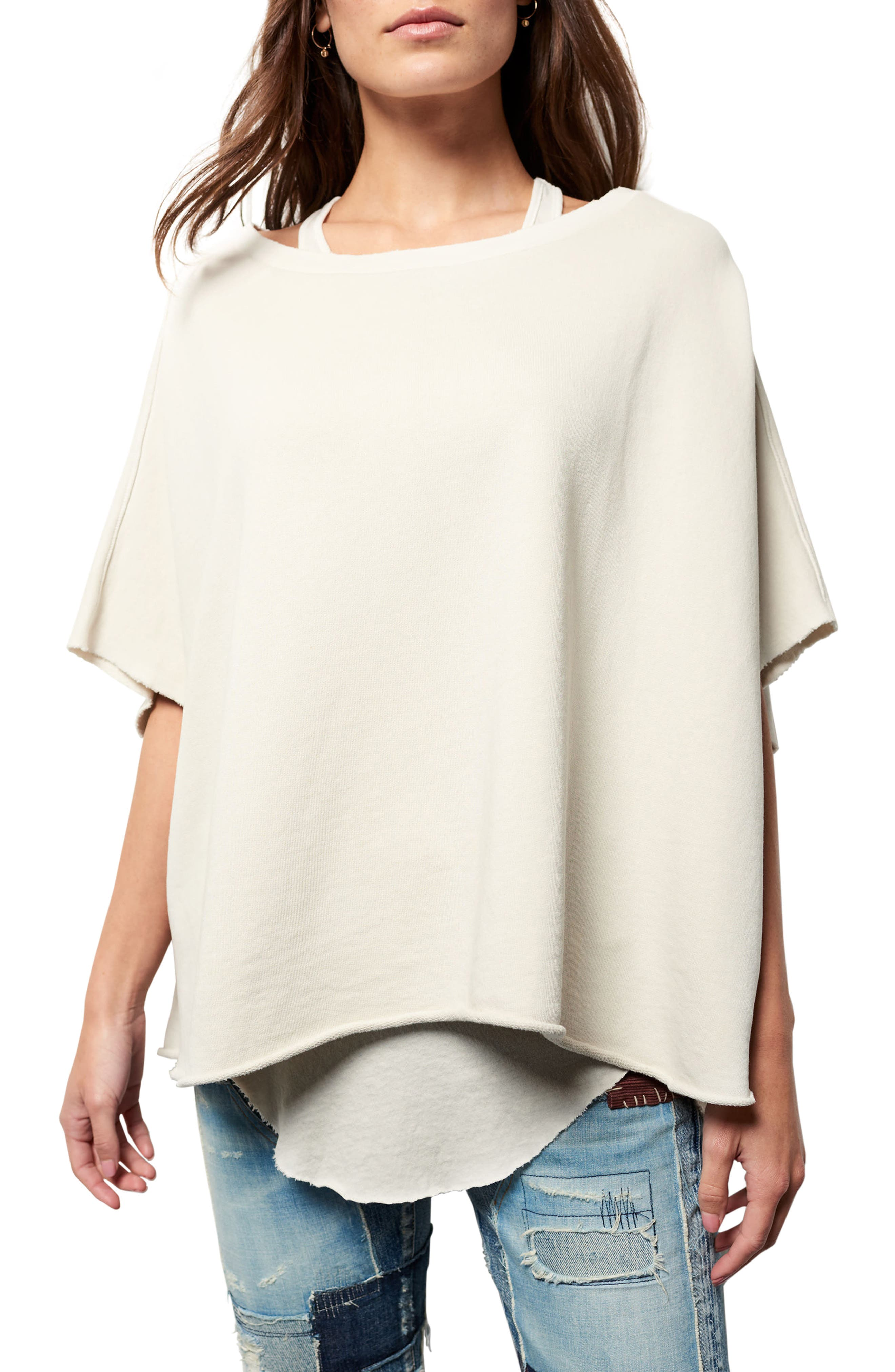 Cotton Poncho,                         Main,                         color, 102