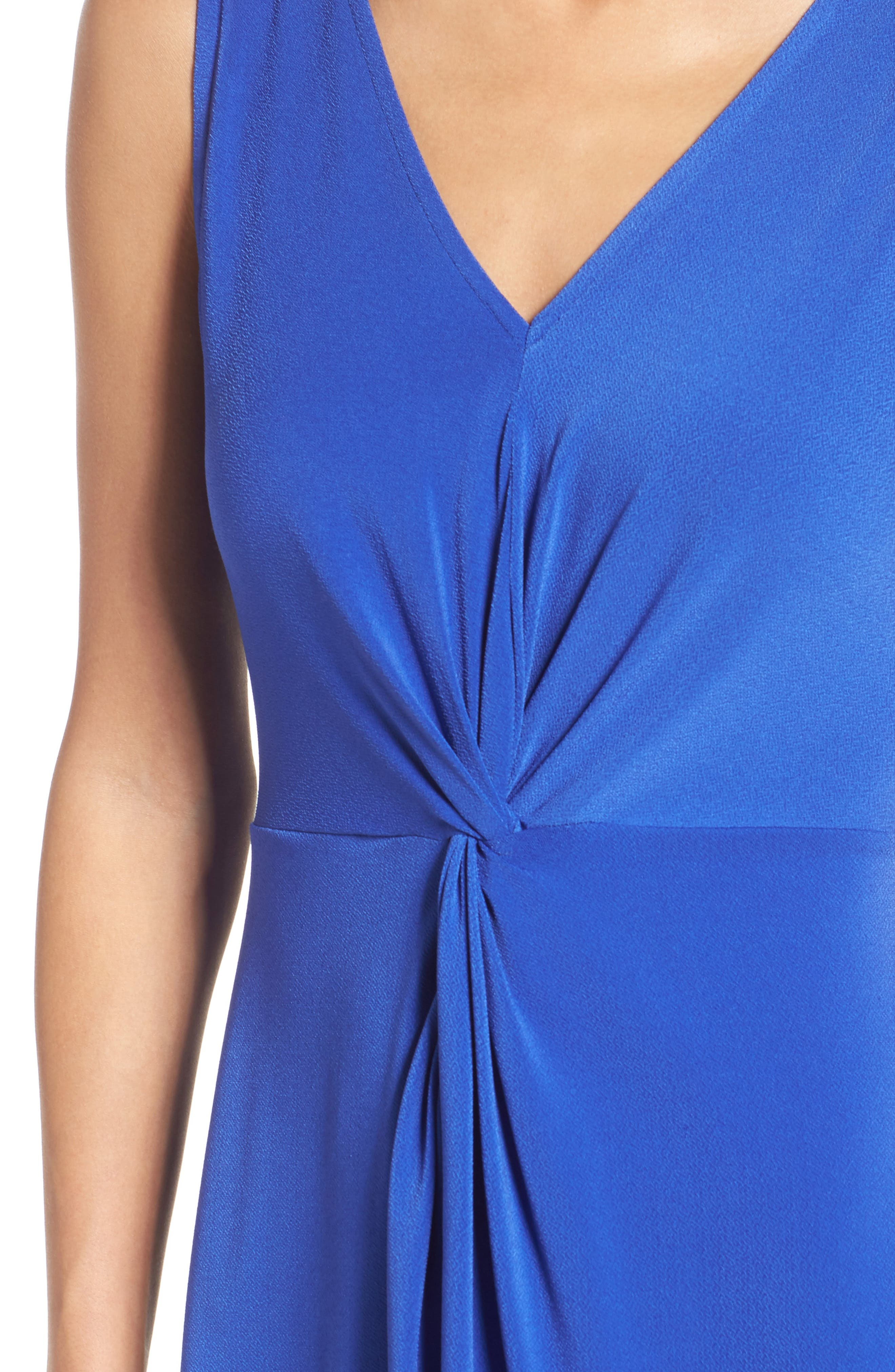 Twist Front Jersey Sheath Dress,                             Alternate thumbnail 4, color,                             430
