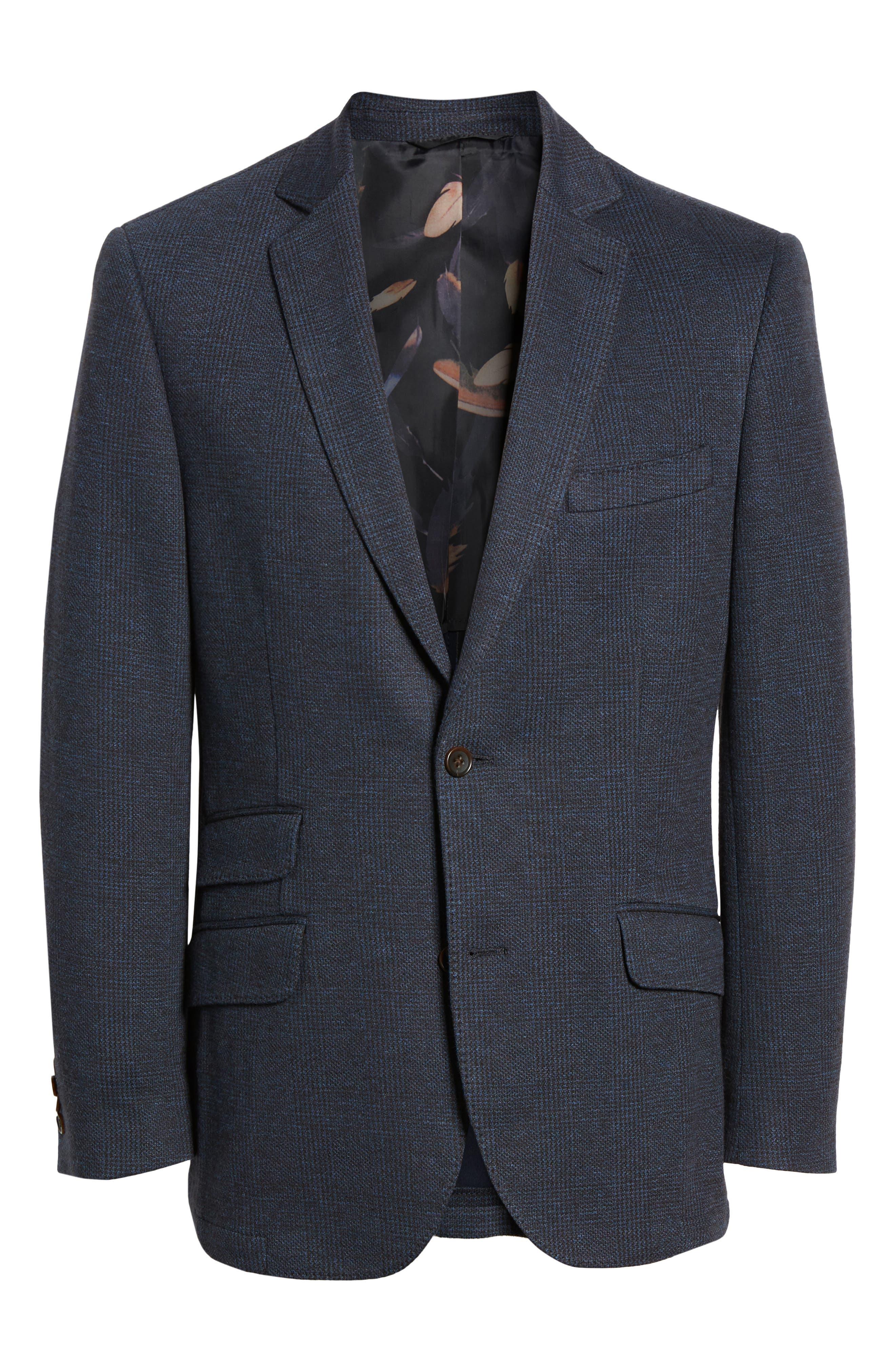 Regular Fit Knit Sport Coat,                             Alternate thumbnail 5, color,                             BROWN