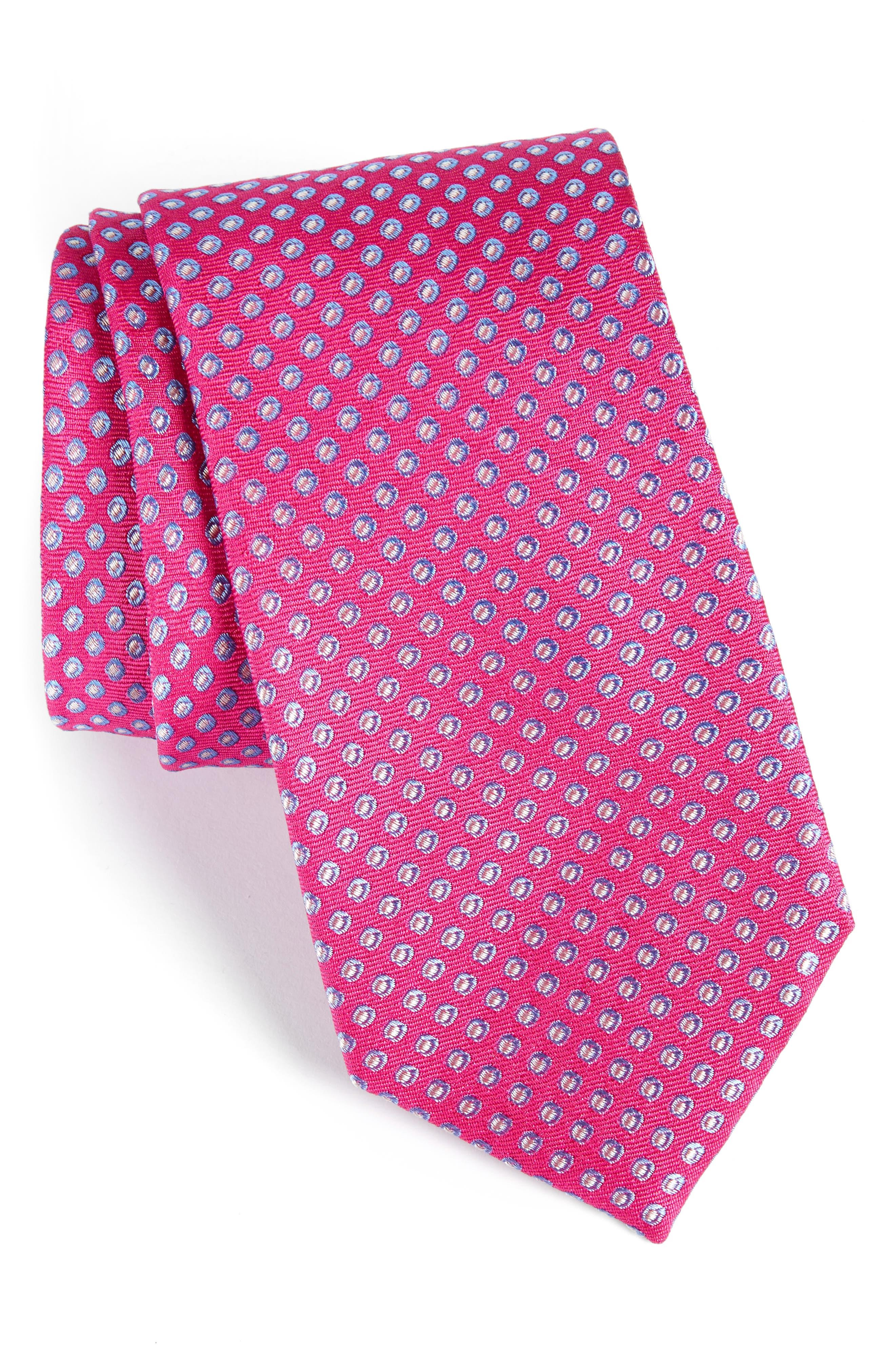 Oxford Dot Silk Tie,                             Main thumbnail 7, color,