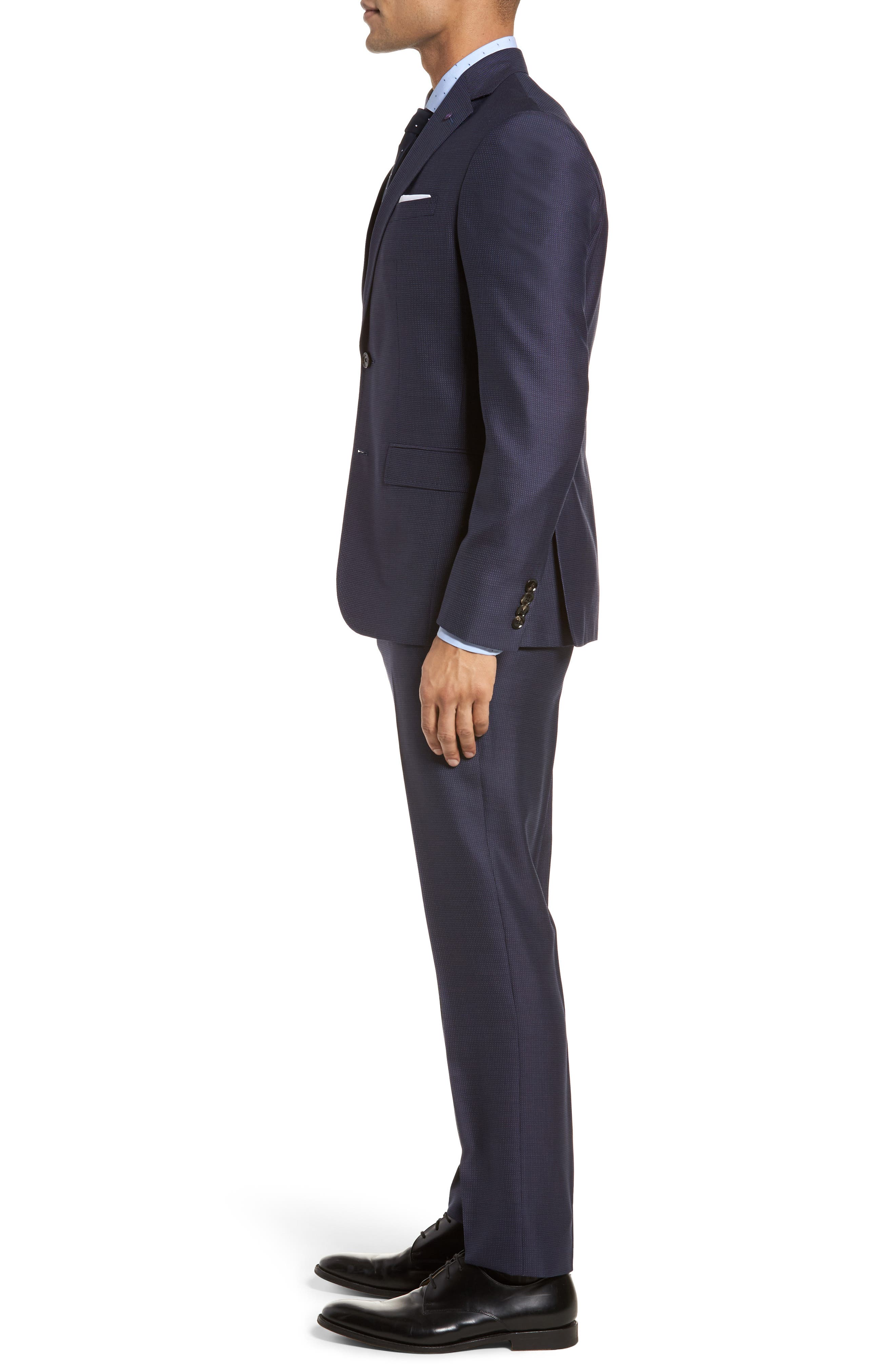 Roger Extra Slim Fit Solid Wool Suit,                             Alternate thumbnail 3, color,                             410