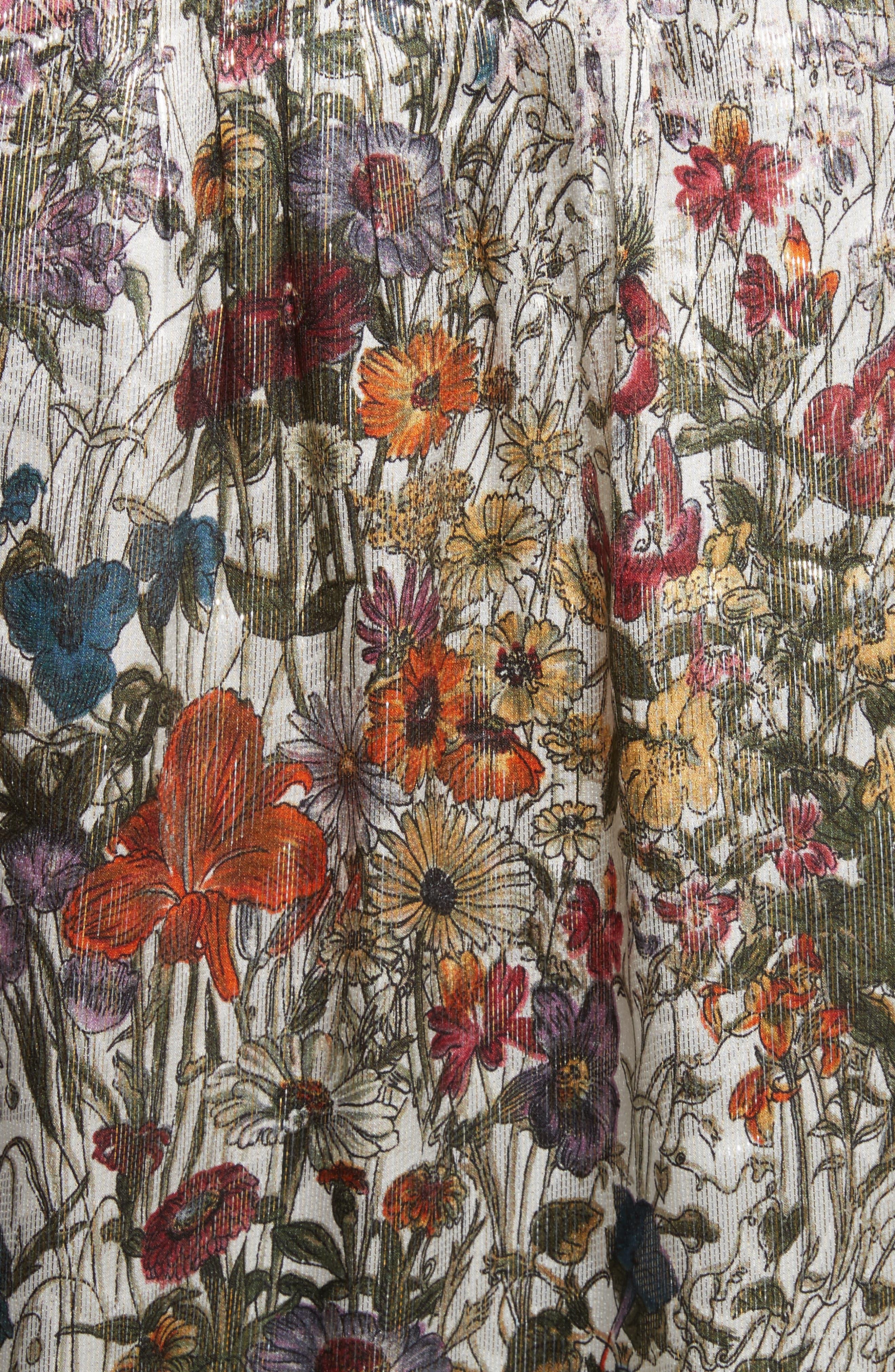 Heidi Metallic Floral Blouse,                             Alternate thumbnail 5, color,                             699