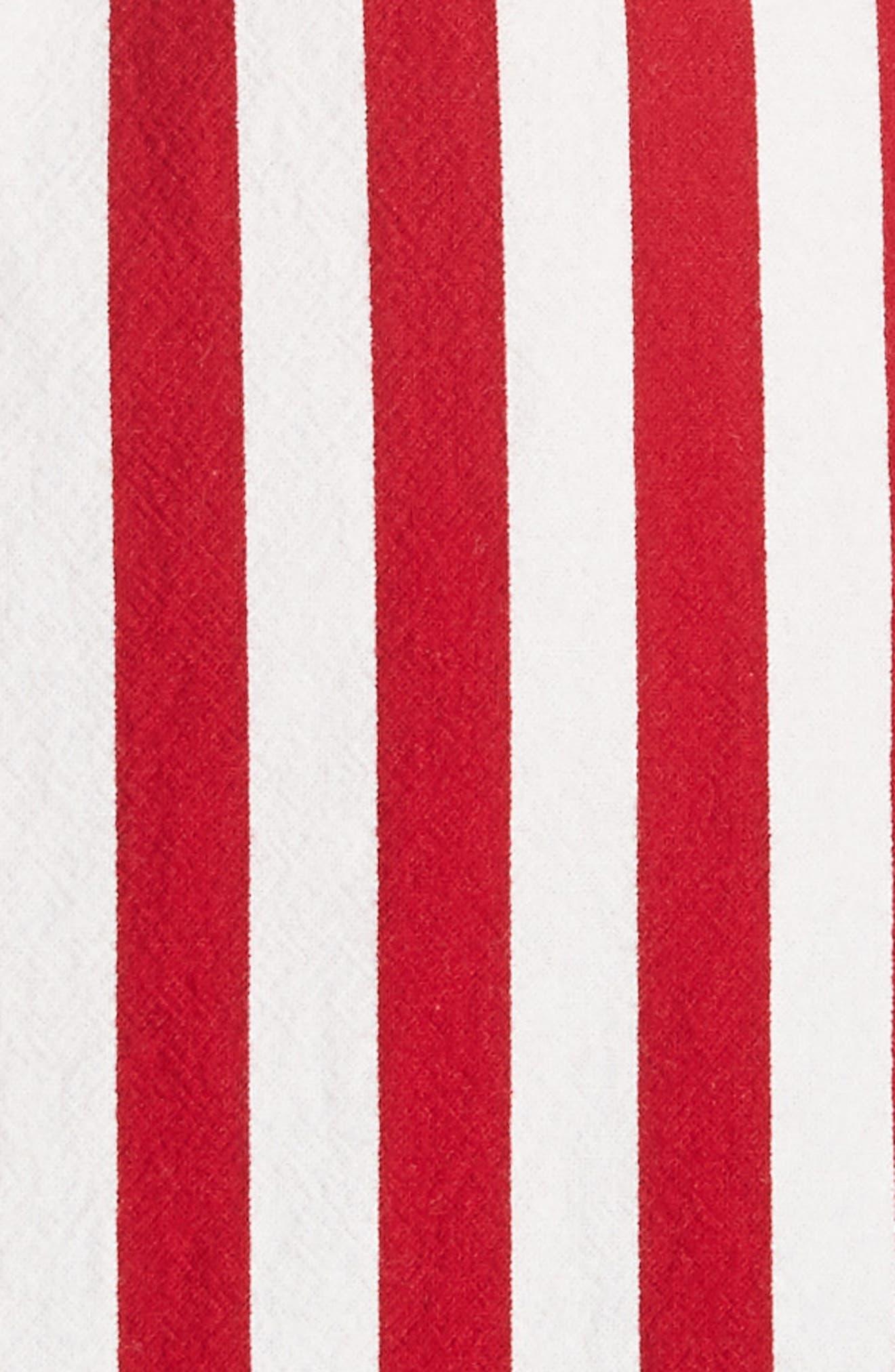 Steady Asymmetrical Dress,                             Alternate thumbnail 5, color,                             RED