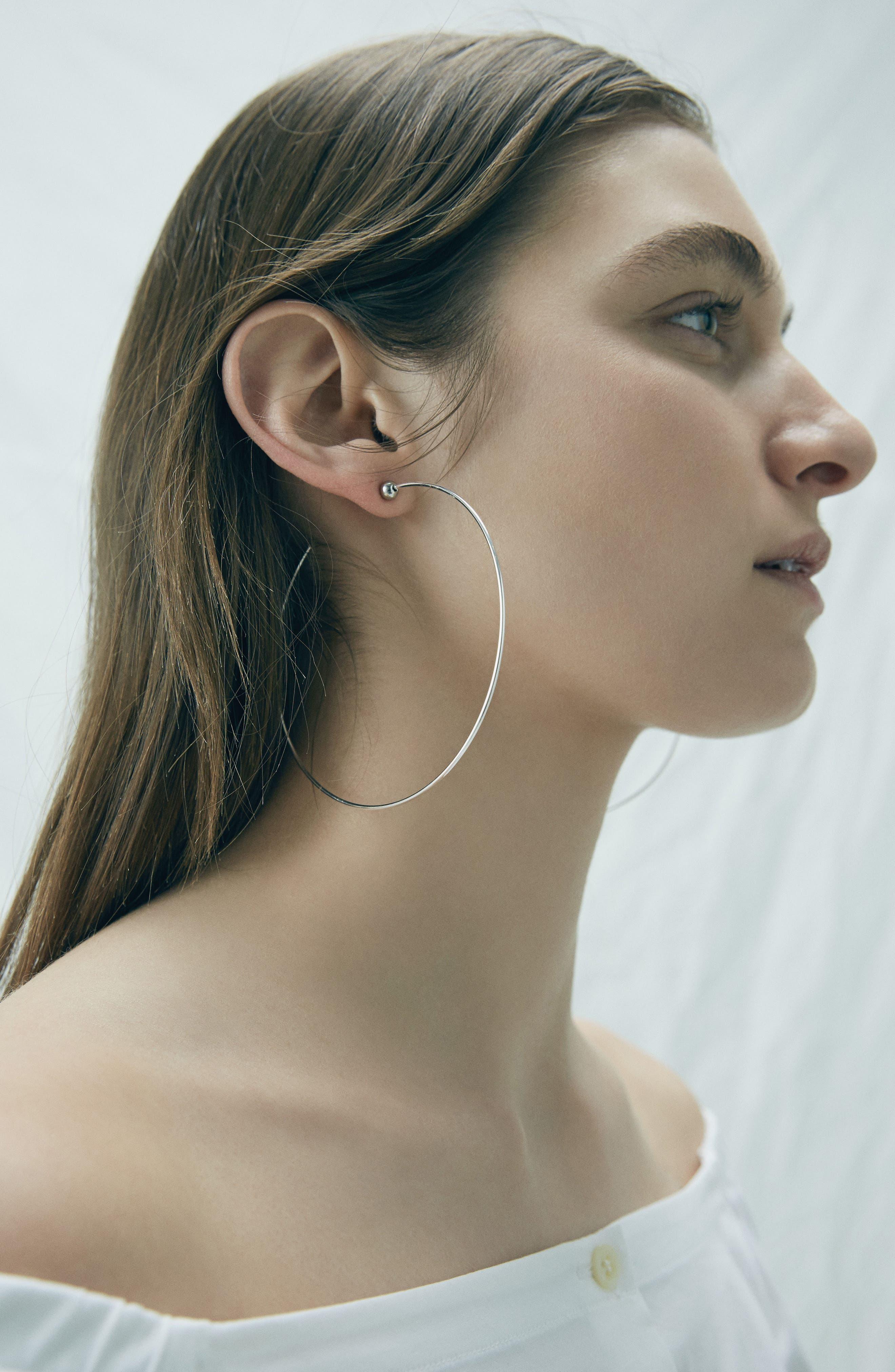 Large Icon Hoop Earrings,                             Alternate thumbnail 6, color,                             712