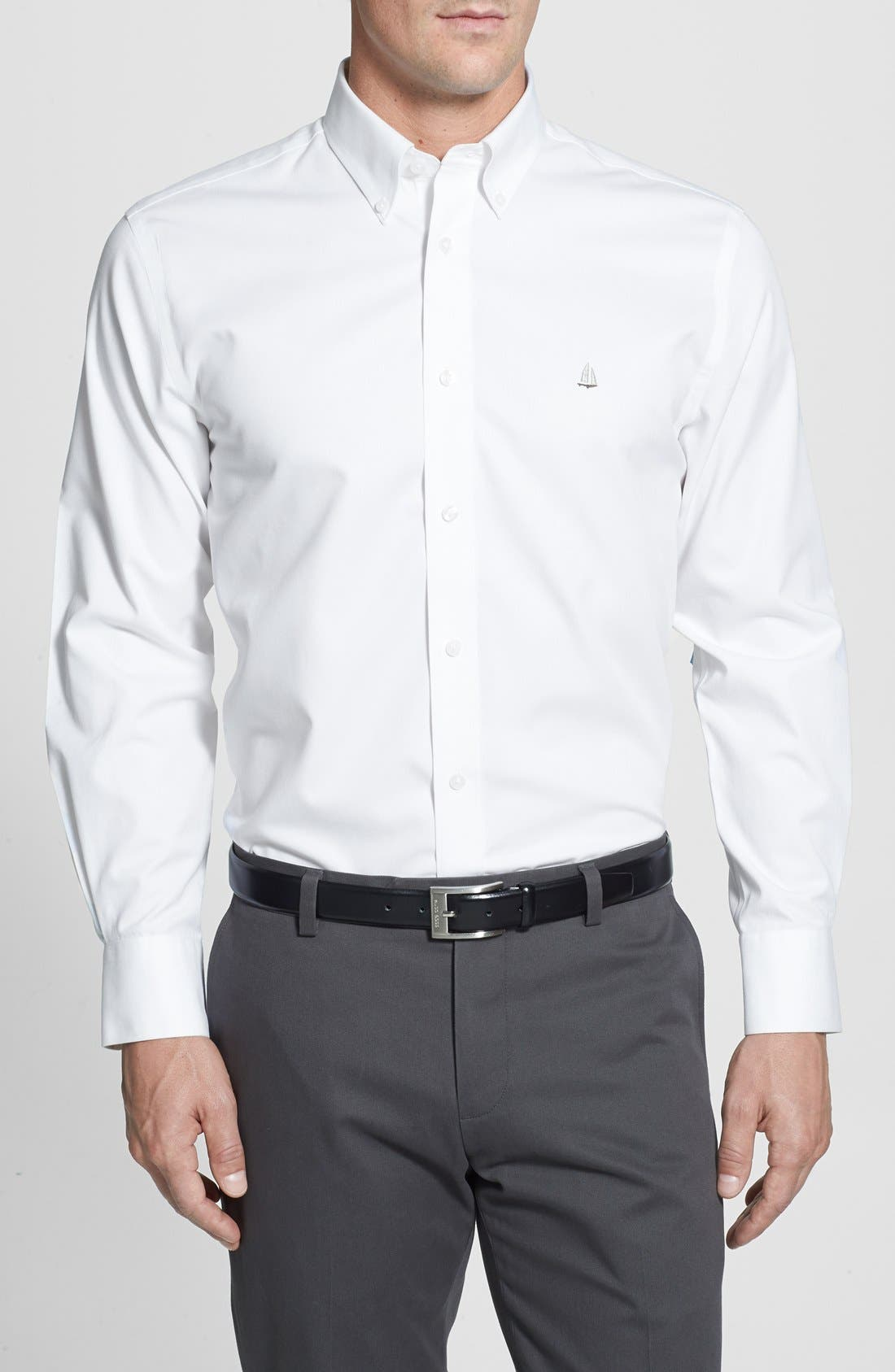 Smartcare<sup>™</sup> Traditional Fit Twill Boat Shirt,                             Main thumbnail 10, color,