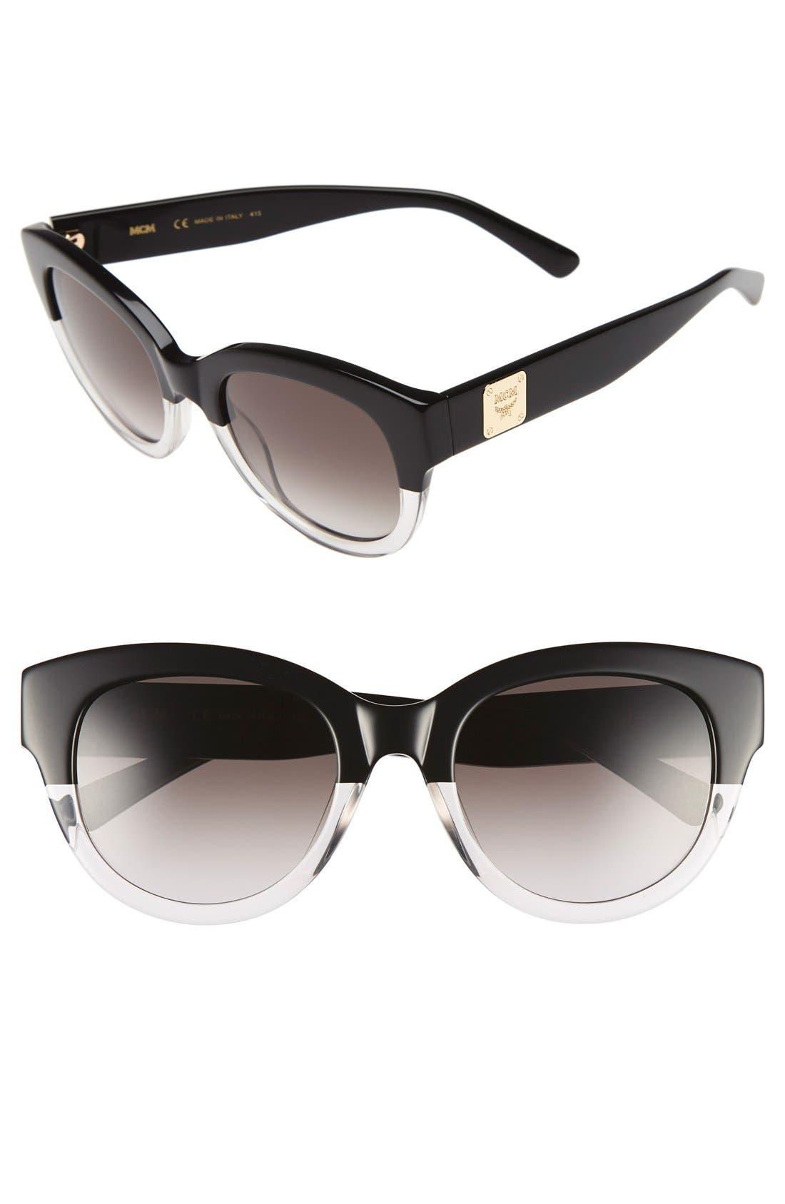 53mm Cat Eye Sunglasses,                         Main,                         color, 001