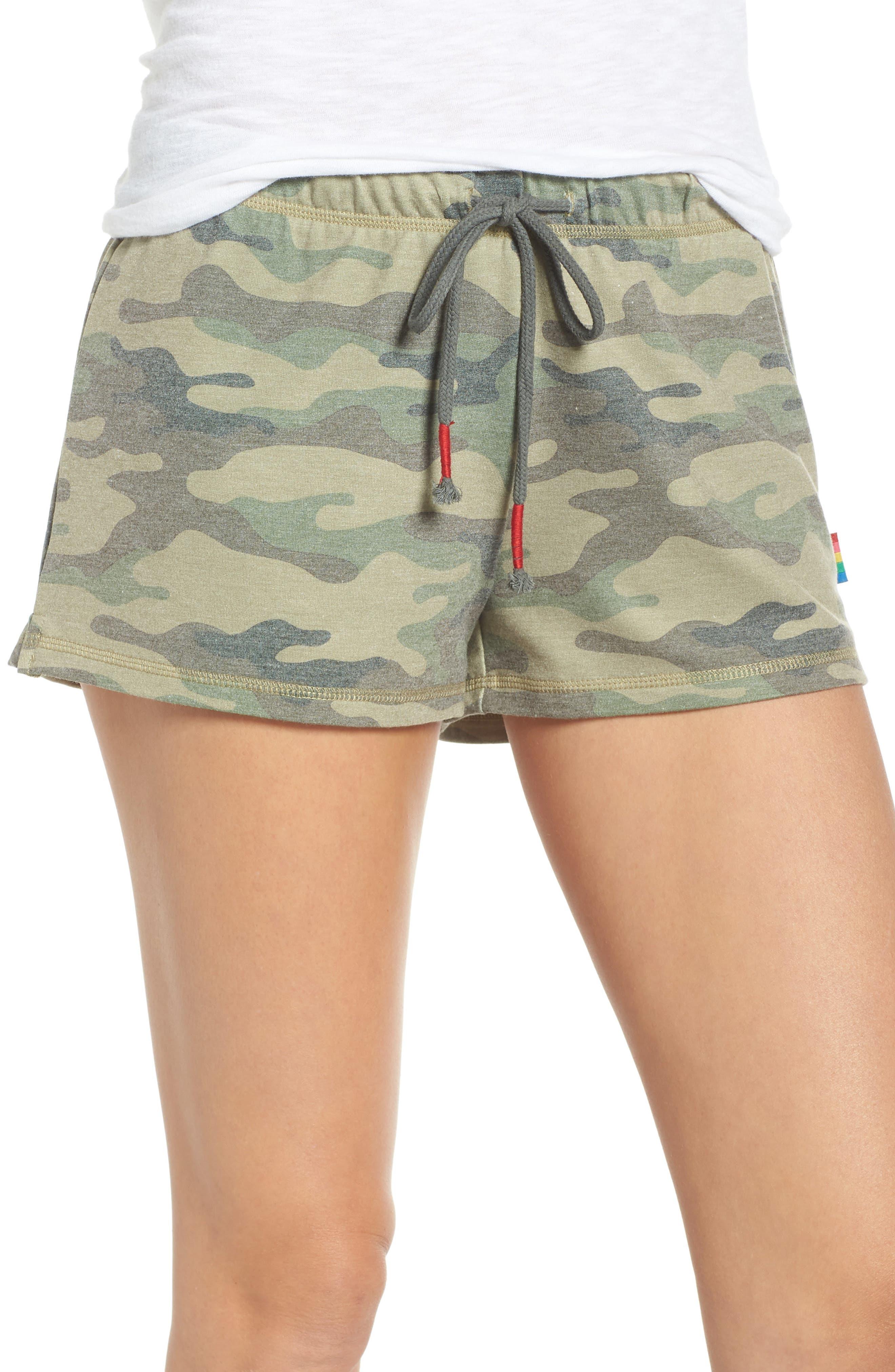 Pajama Shorts, Main, color, OLIVE