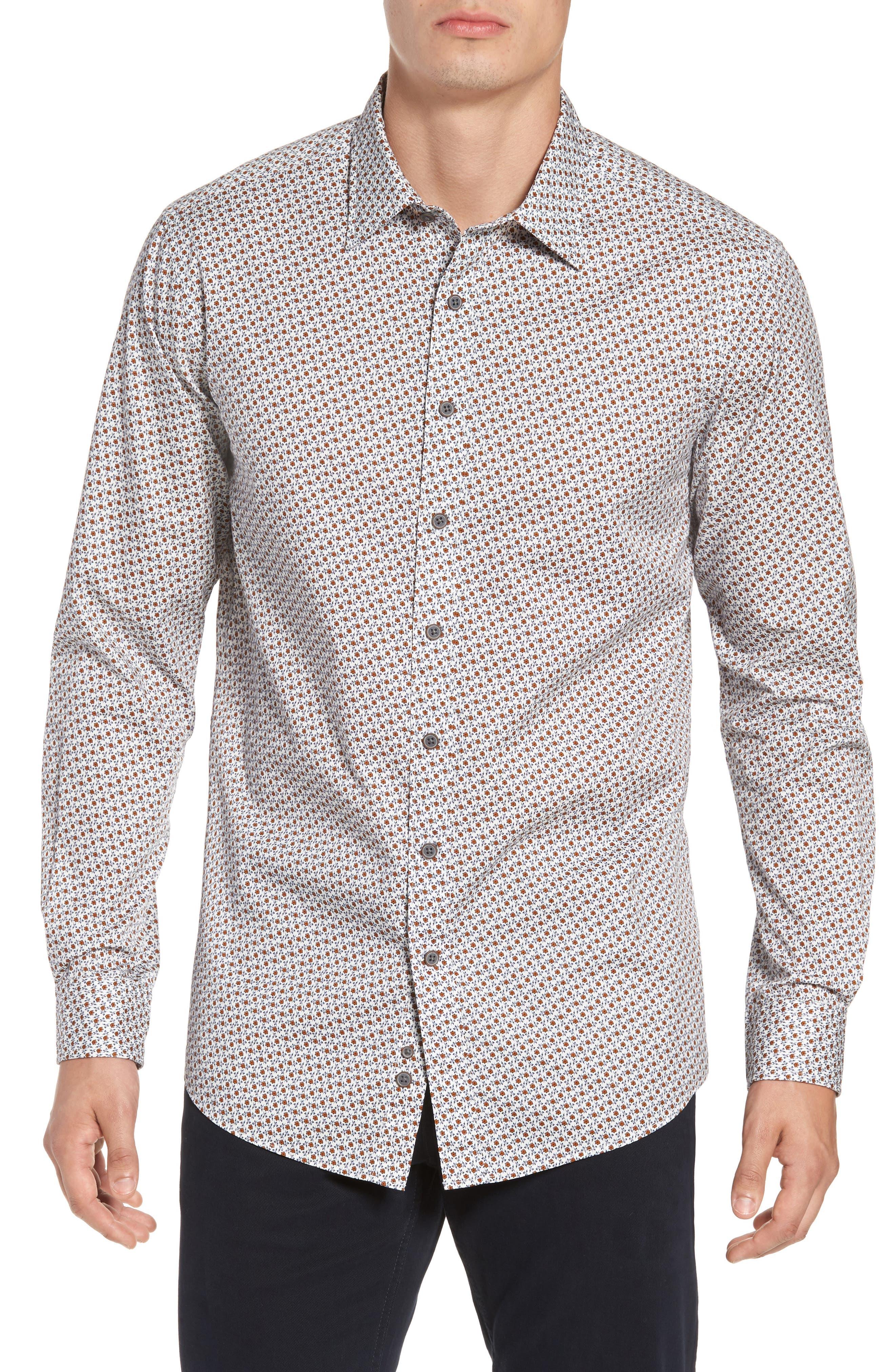 Regular Fit Cascade Sport Shirt,                         Main,                         color, 815
