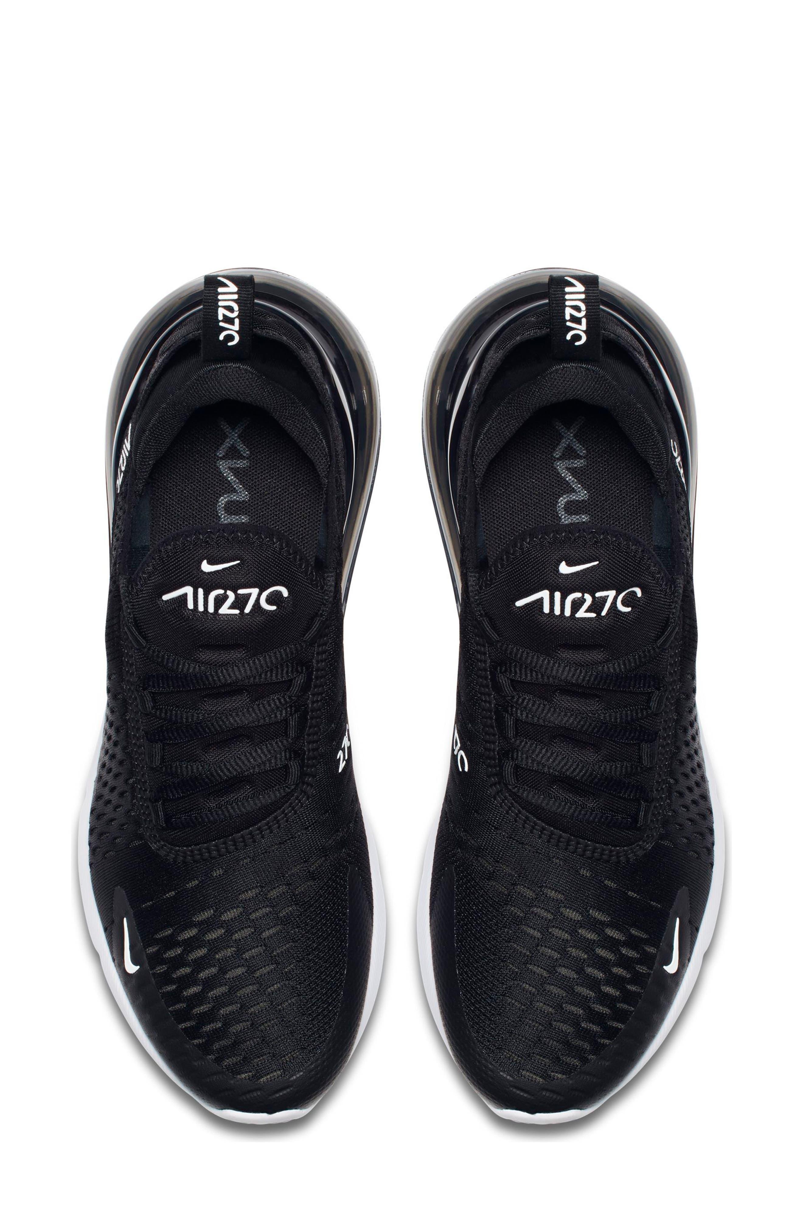 Air Max 270 Sneaker,                             Alternate thumbnail 4, color,                             BLACK/ ANTHRACITE/ WHITE