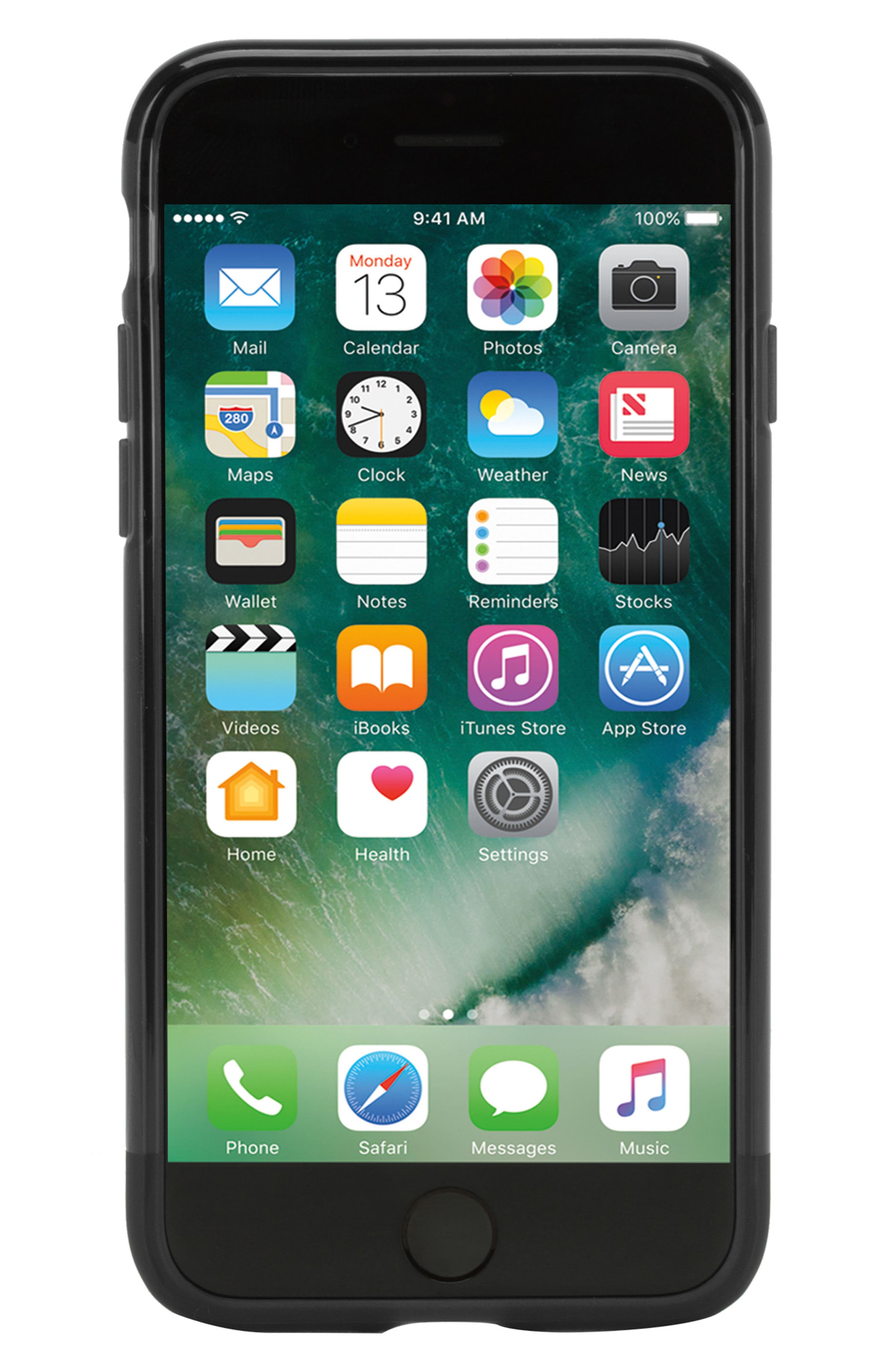 Protective iPhone 7/8 Case,                             Main thumbnail 1, color,                             BLACK