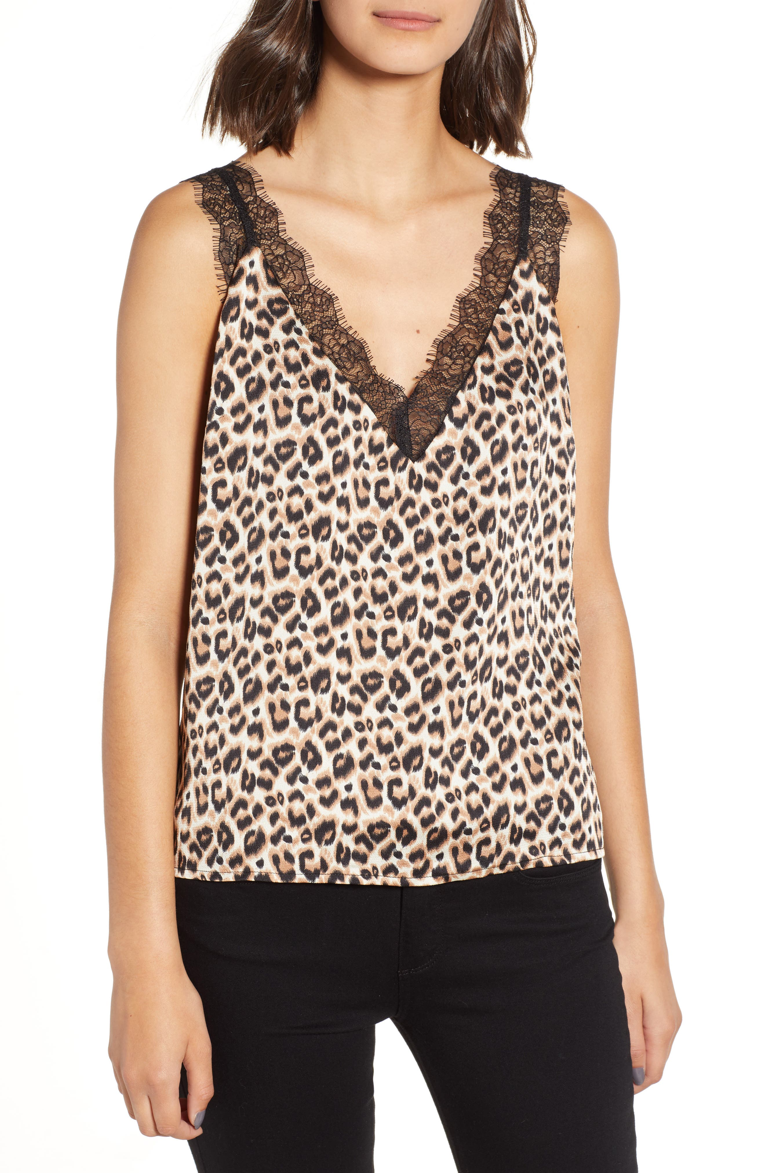 Heartloom Misty Lace Trim Camisole, Brown
