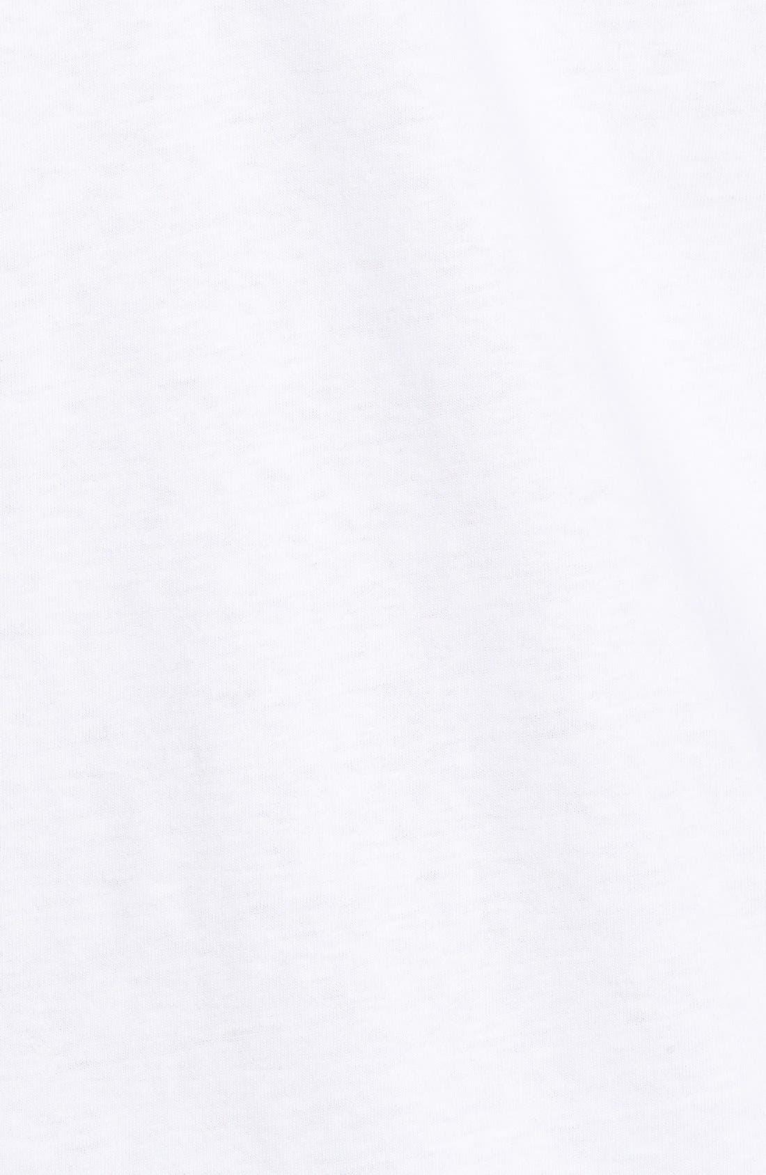 Short Sleeve Skipjack T-Shirt,                             Alternate thumbnail 3, color,                             WHITE
