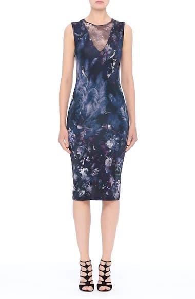 Hummingbird Print Jersey Dress, video thumbnail