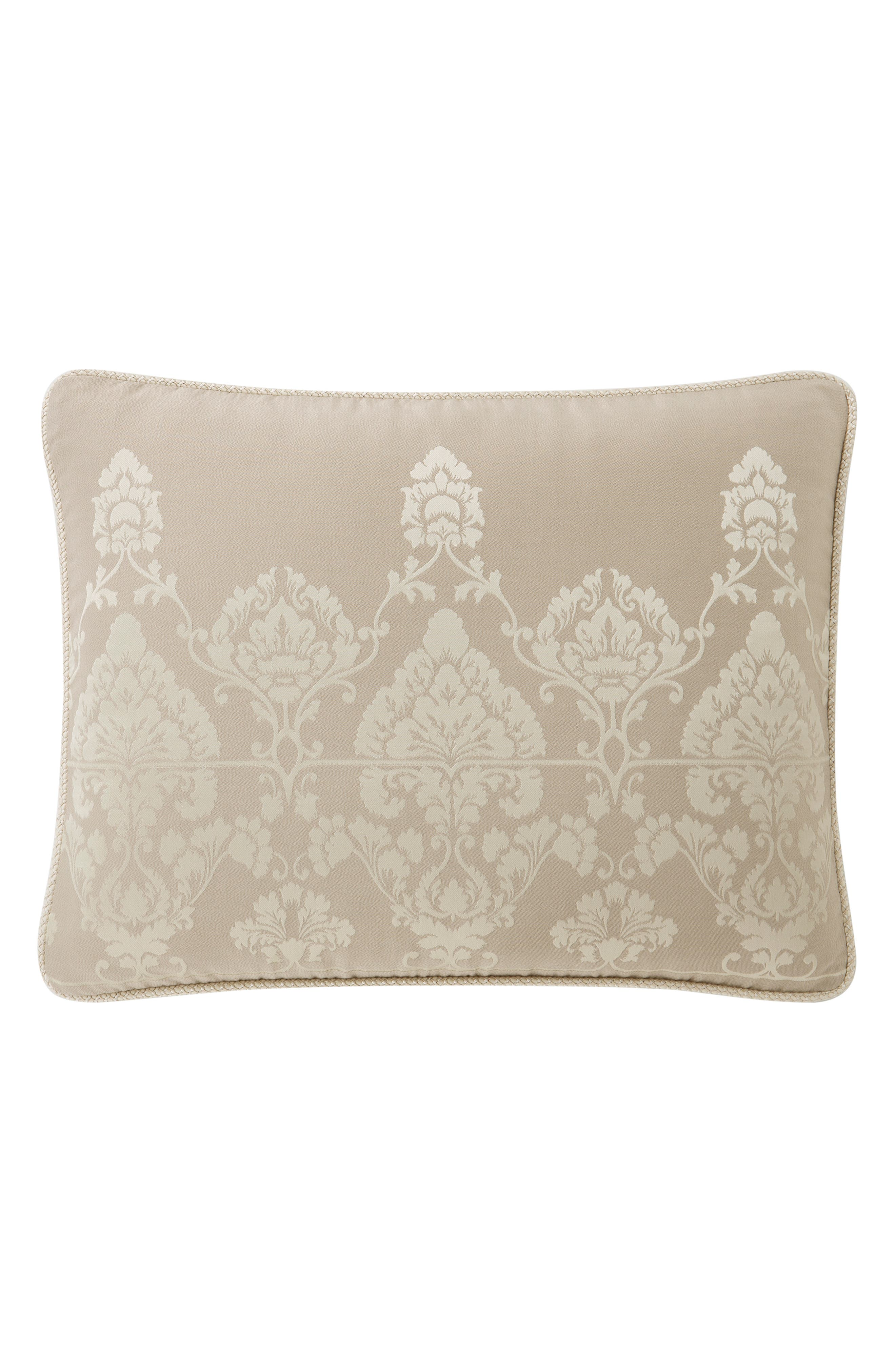 WATERFORD,                             Abrielle Reversible Comforter, Sham & Bed Skirt Set,                             Alternate thumbnail 4, color,                             CHAMPAGNE