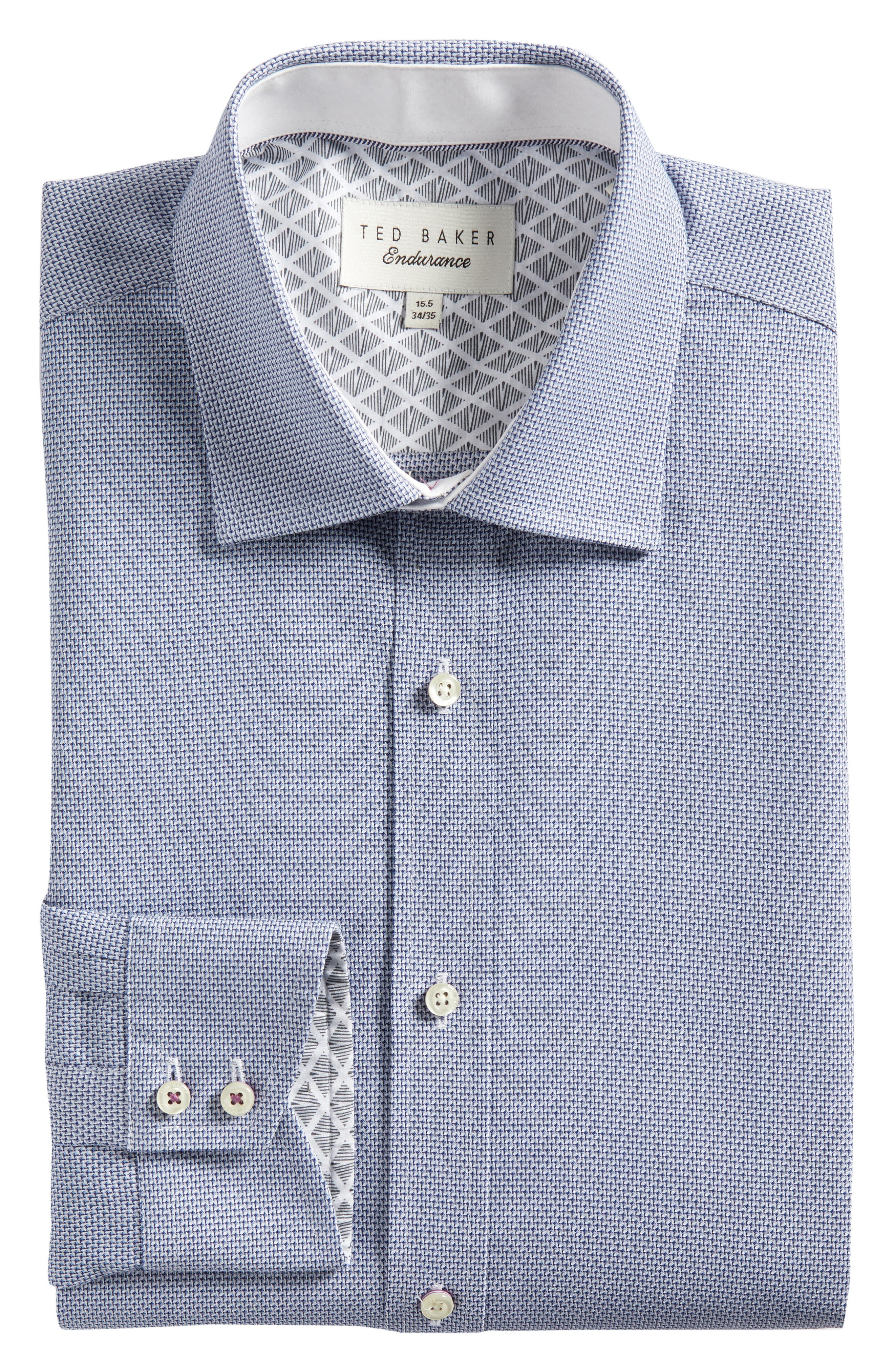 Murgese Trim Fit Geometric Dress Shirt,                             Alternate thumbnail 5, color,                             030