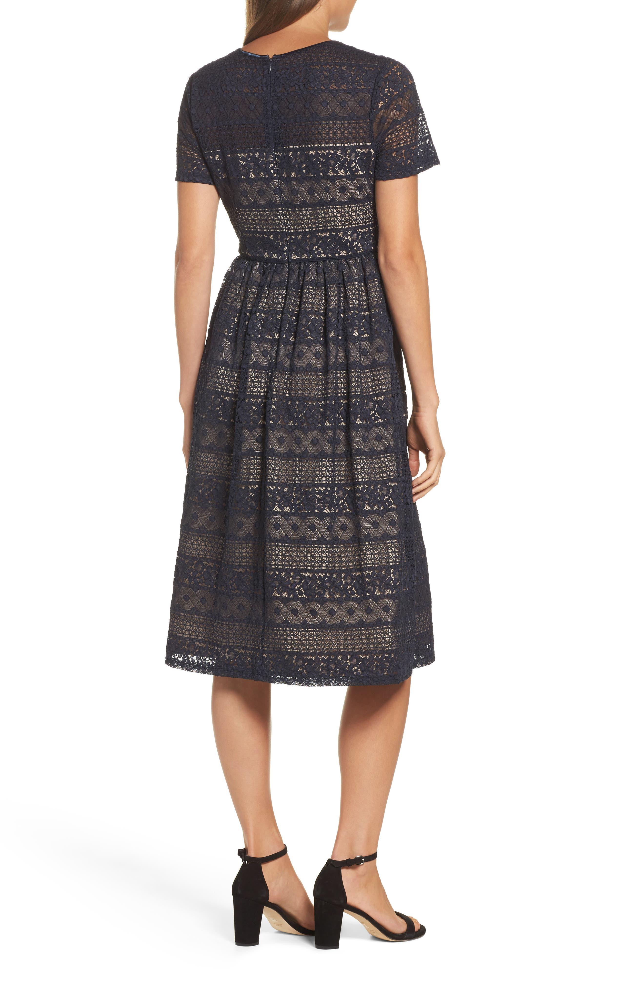 Lace Midi Dress,                             Alternate thumbnail 2, color,                             402