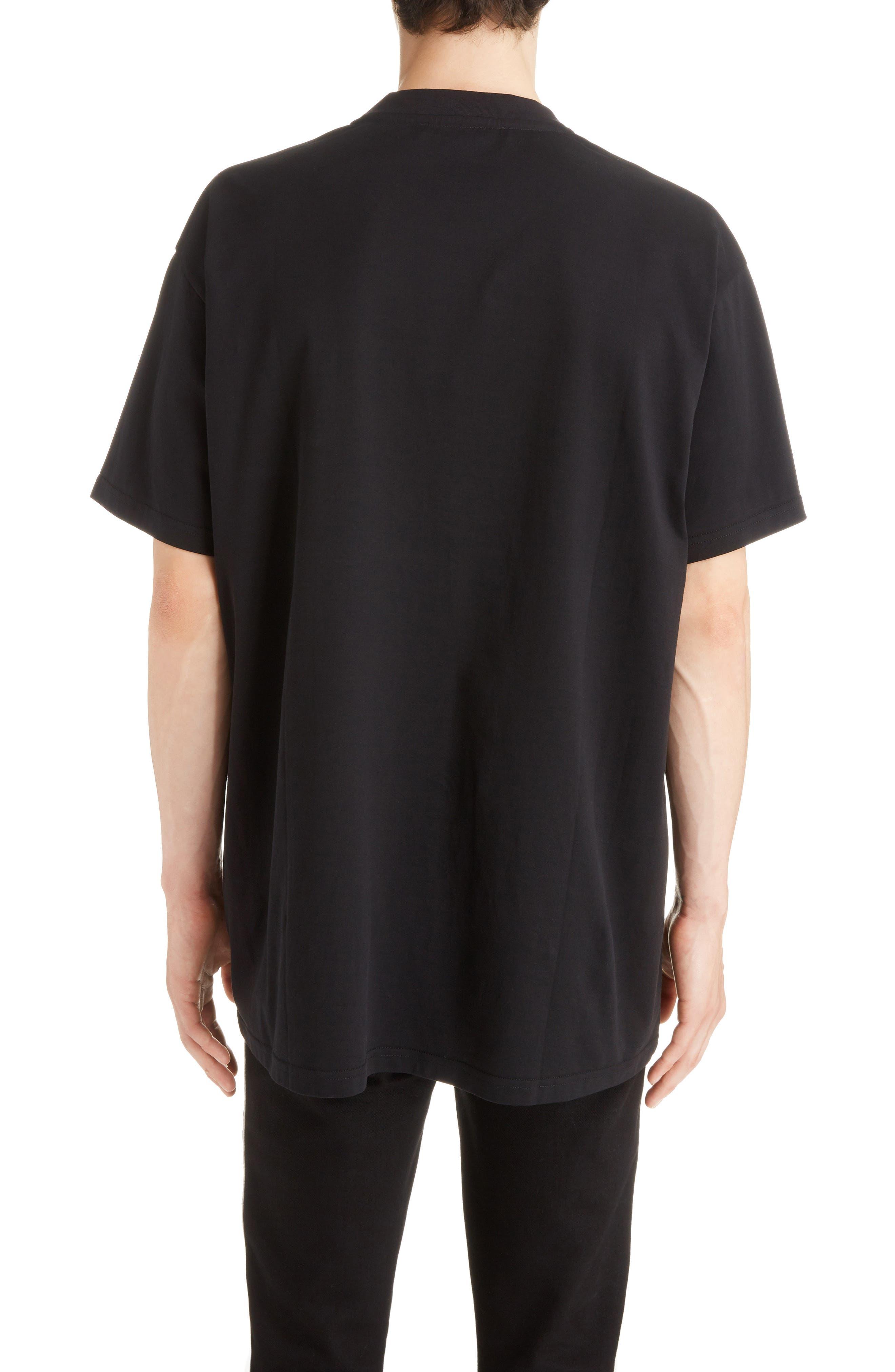 Abstract 4G Logo T-Shirt,                             Alternate thumbnail 2, color,                             BLACK