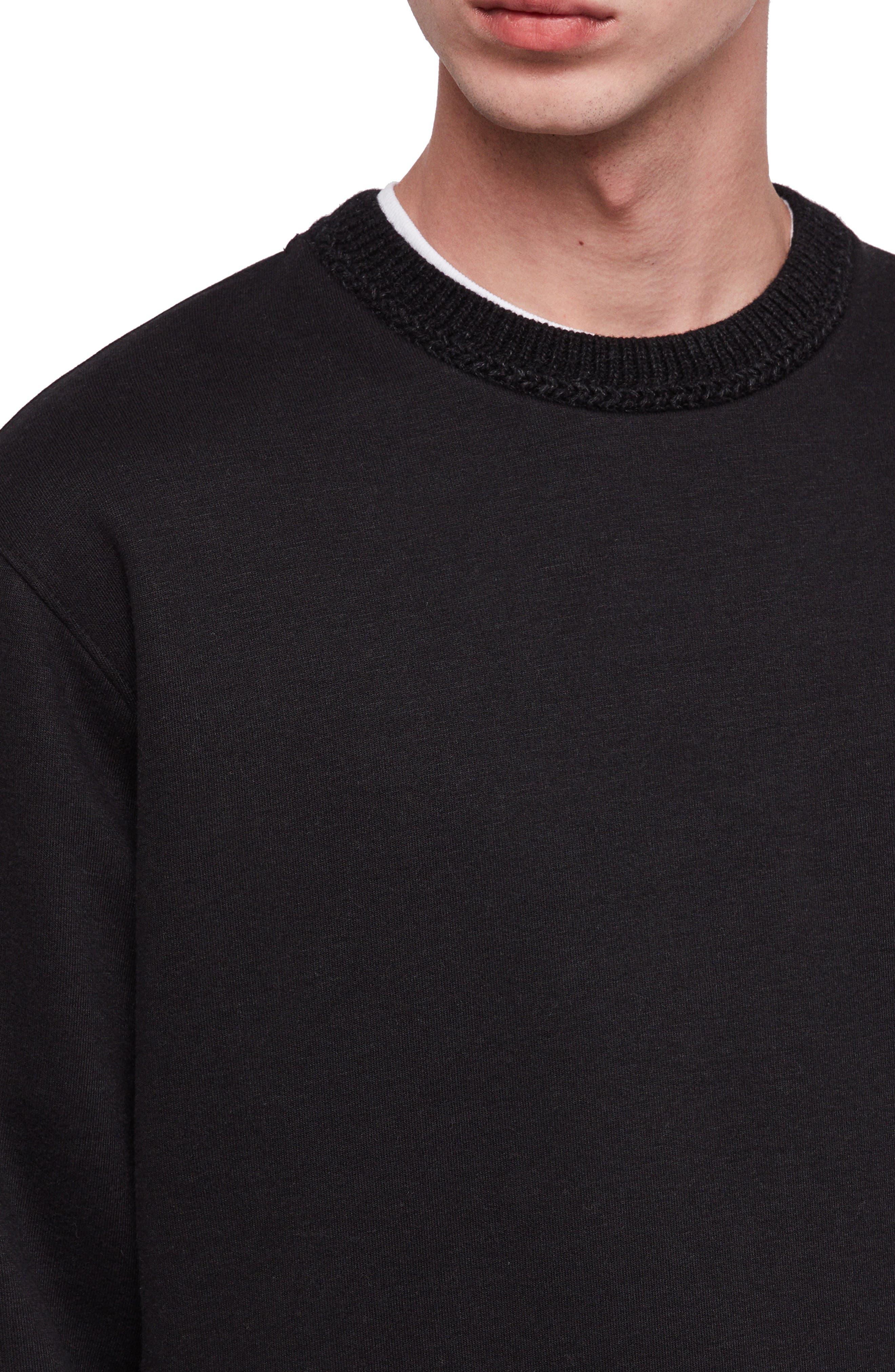 Senior Crewneck Regular Fit Sweatshirt,                             Alternate thumbnail 3, color,                             JET BLACK