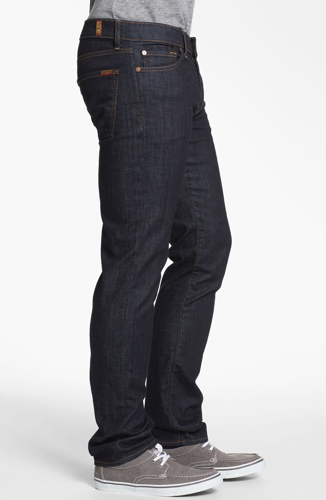 'Slimmy' Slim Fit Jeans,                             Alternate thumbnail 3, color,                             DARK & CLEAN