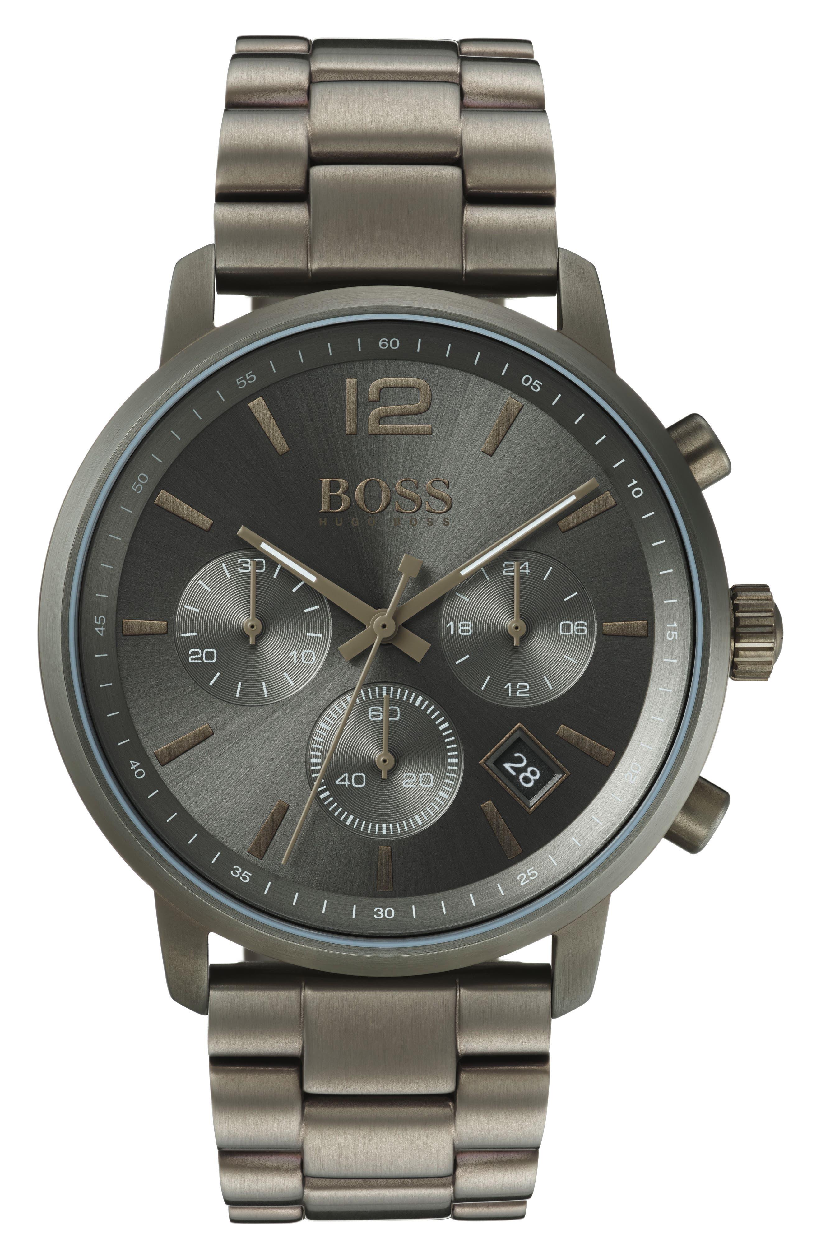 Attitude Chronograph Bracelet Watch, 44mm,                             Main thumbnail 1, color,                             BLUE