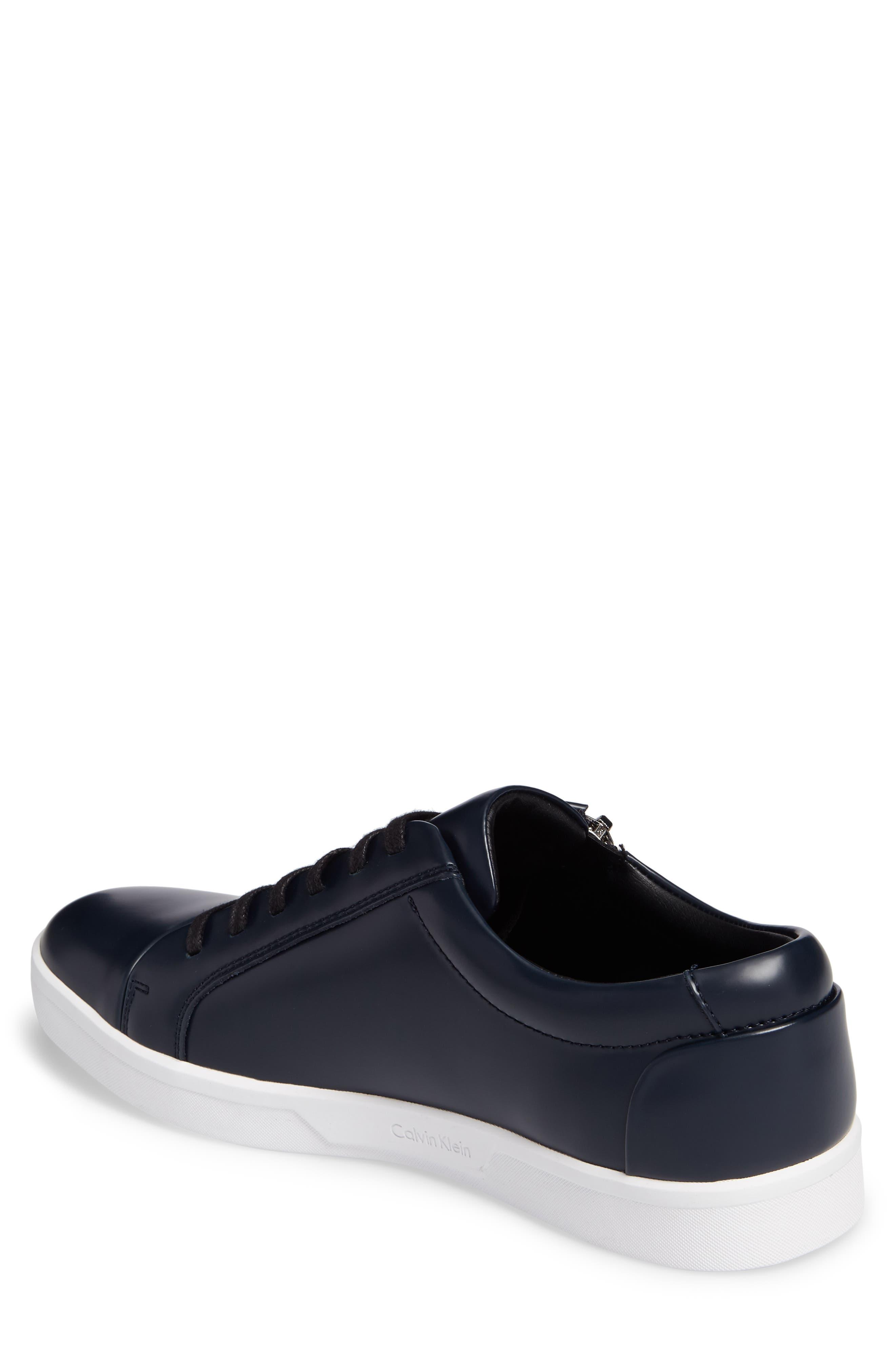 Ibrahim Cap-Toe Zip Sneaker,                             Alternate thumbnail 6, color,